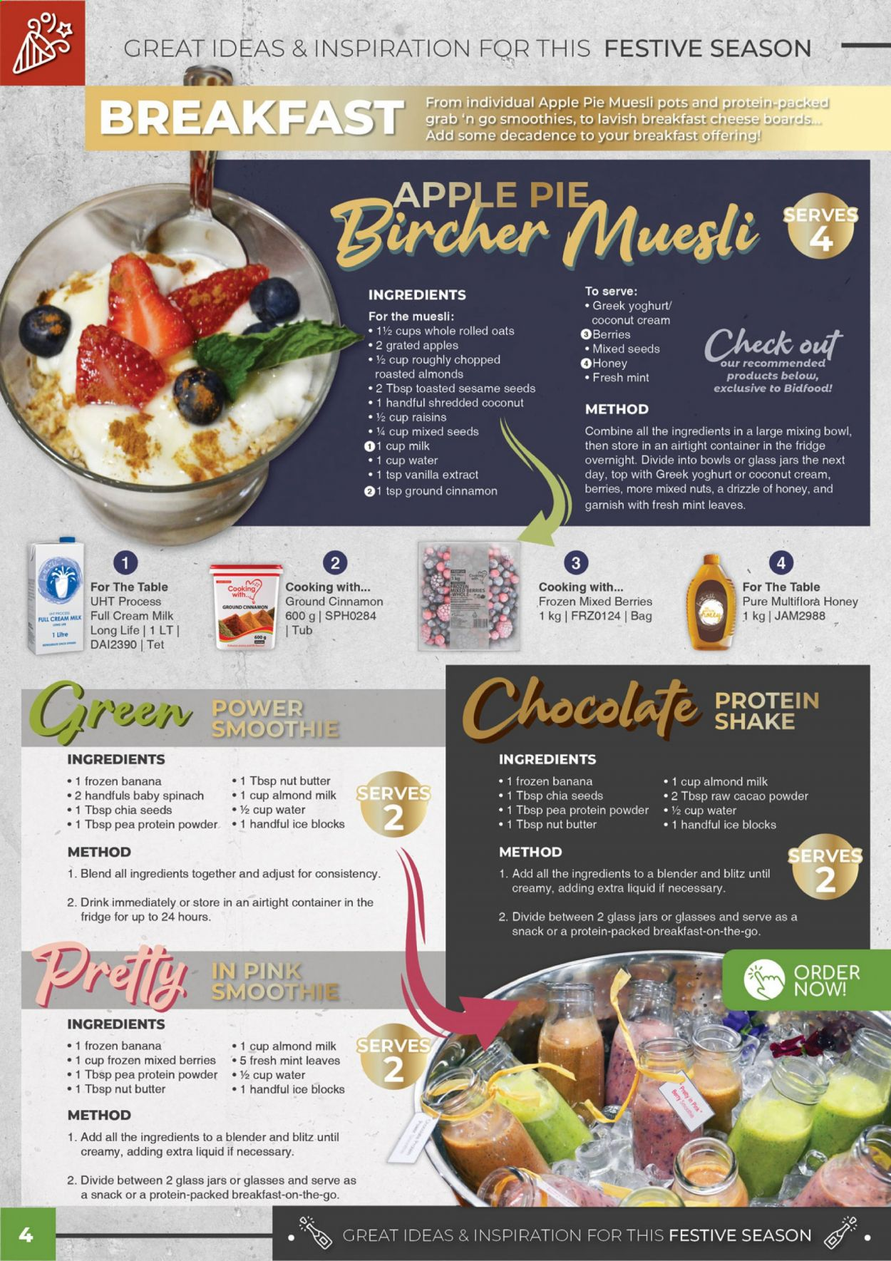 Bidfood catalogue . Page 4.