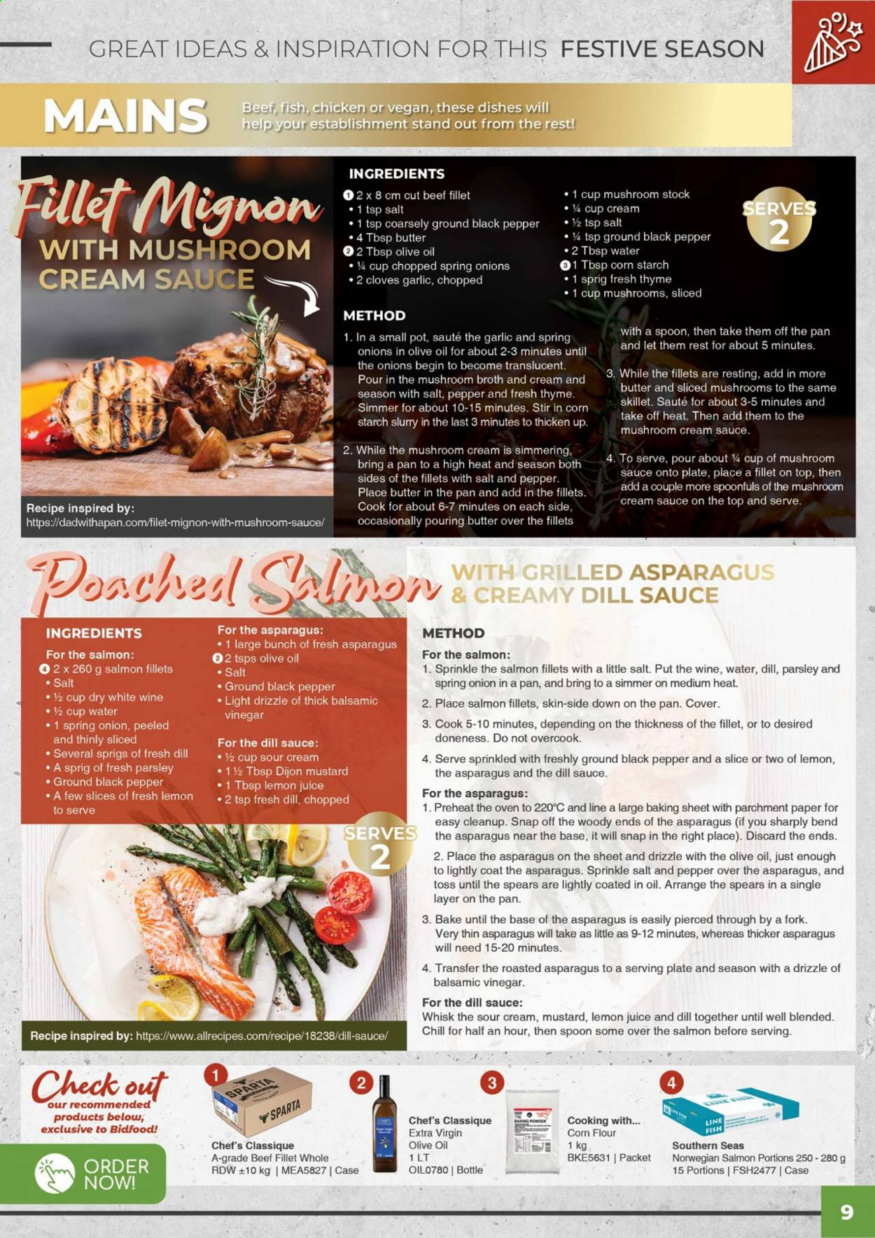 Bidfood catalogue . Page 9.