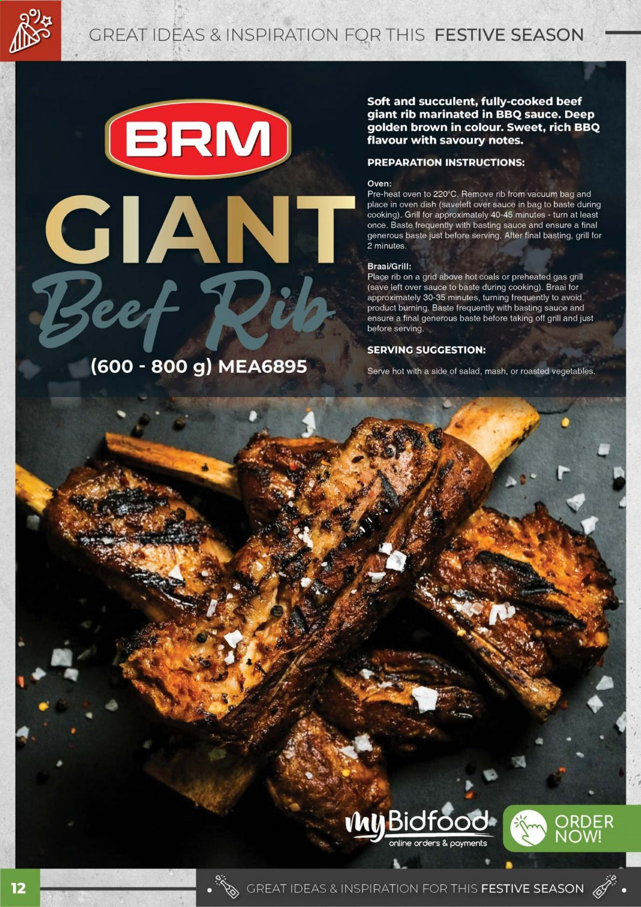 Bidfood catalogue . Page 12.