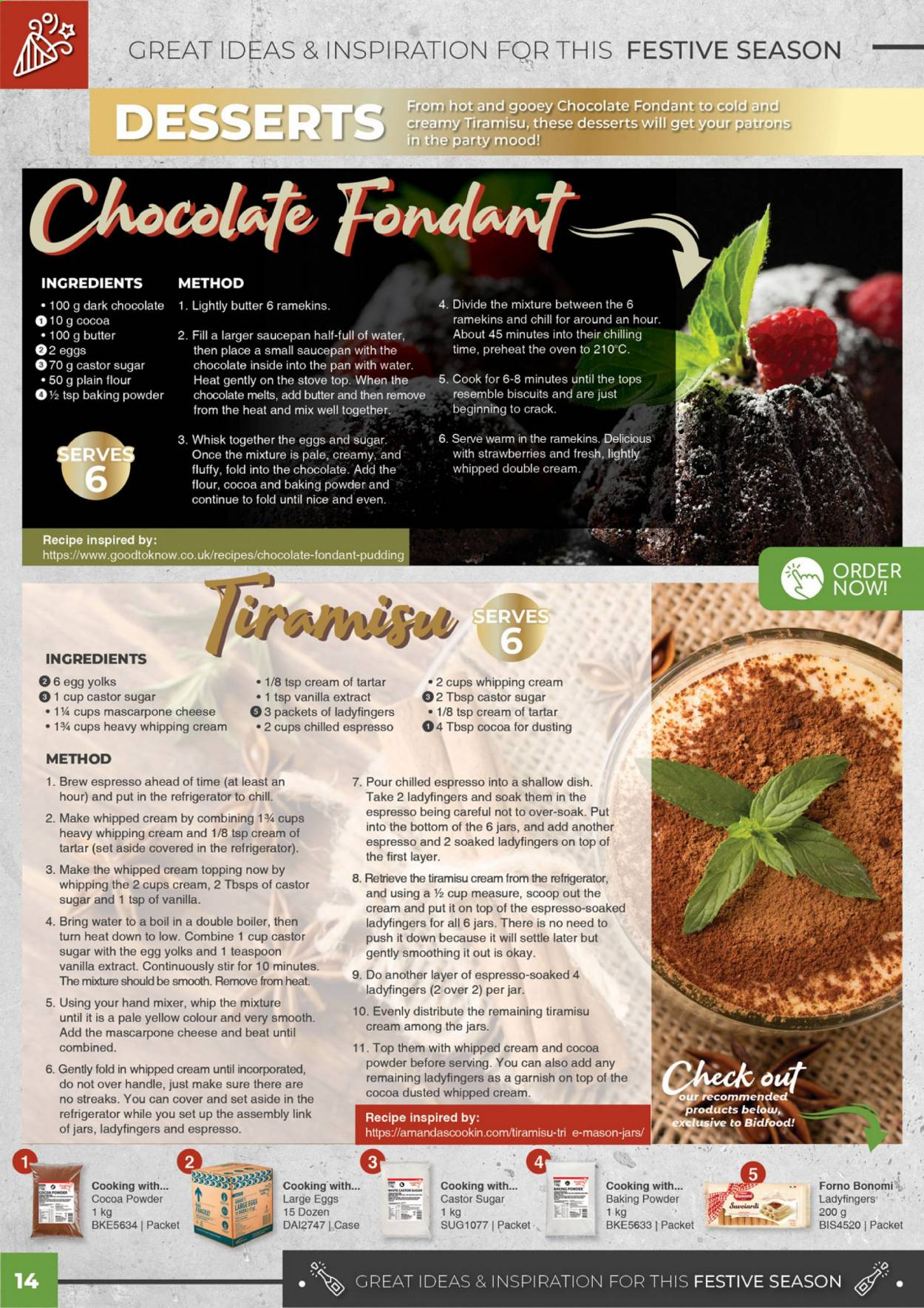 Bidfood catalogue . Page 14.