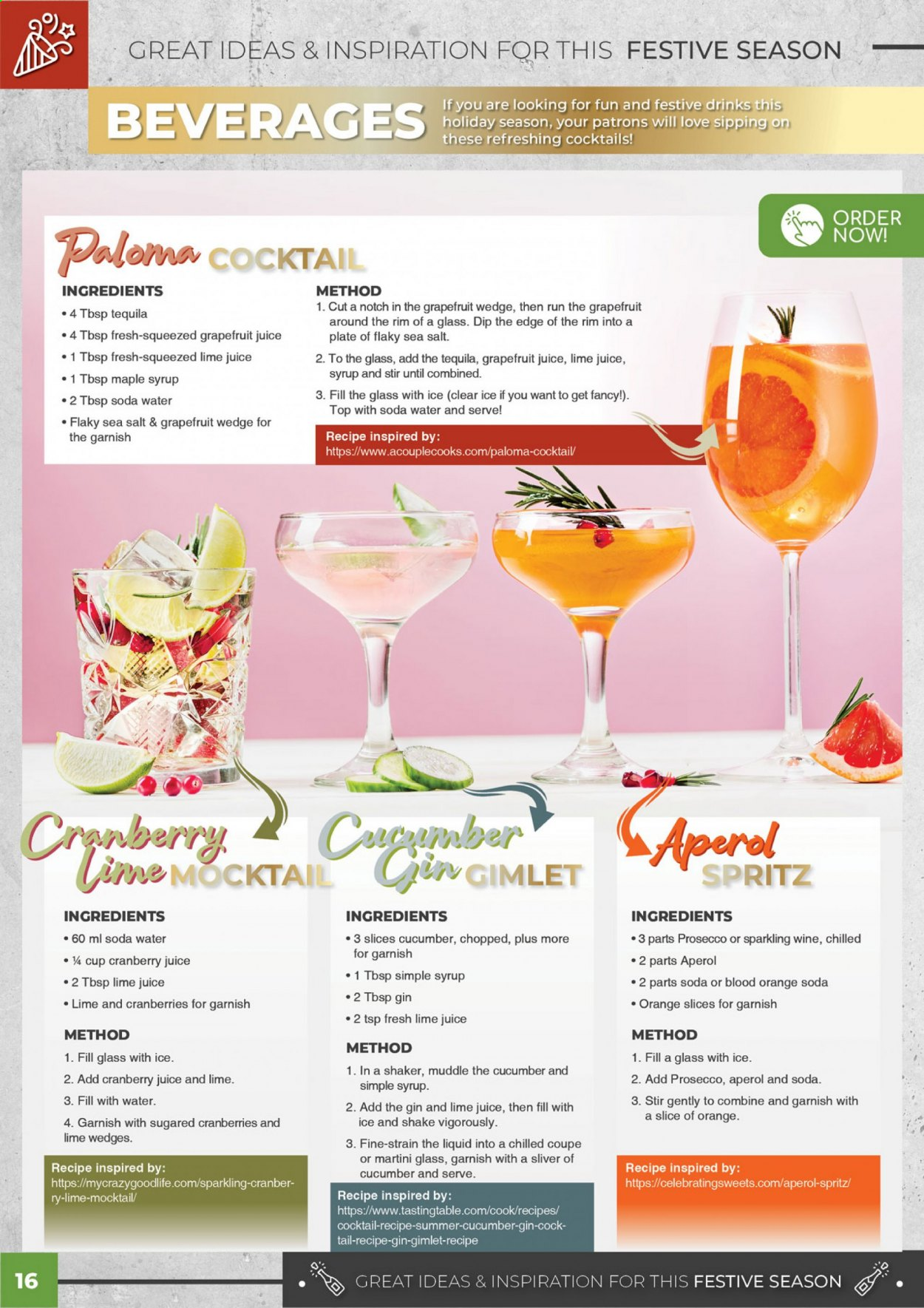 Bidfood catalogue . Page 16.