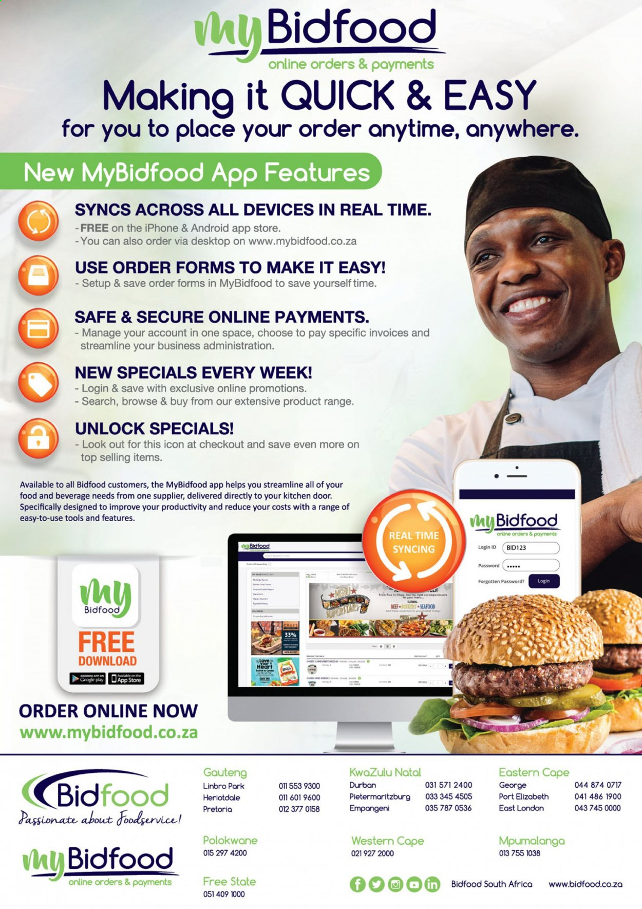 Bidfood catalogue . Page 20.
