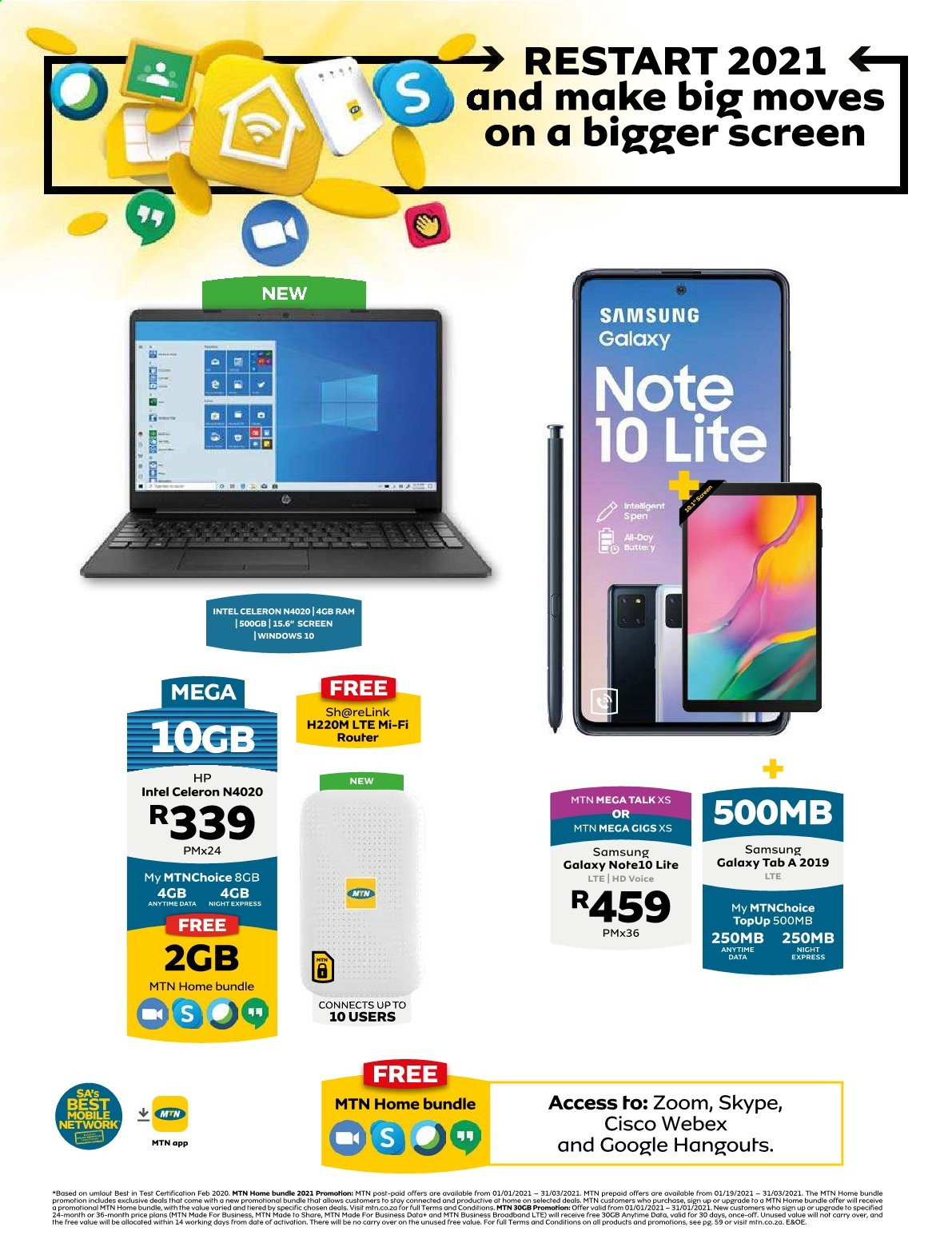 MTN catalogue  - 01.01.2021 - 03.31.2021. Page 1.