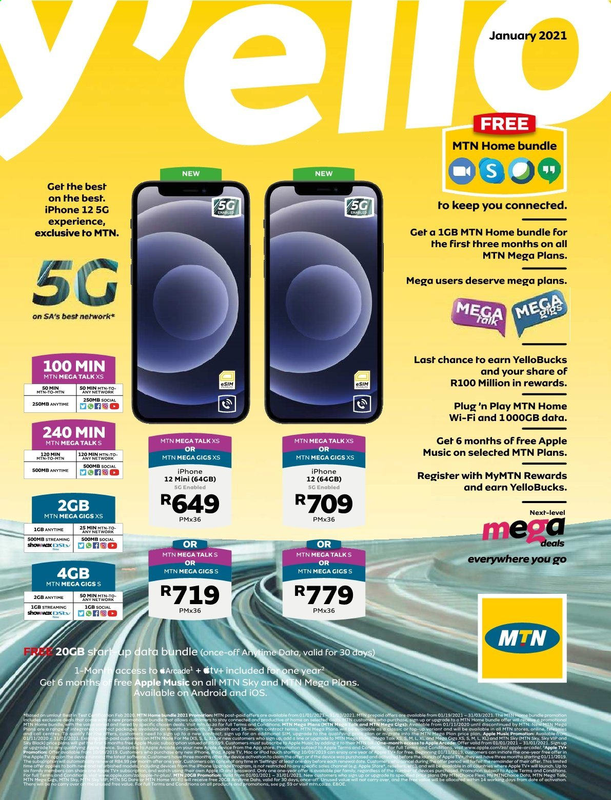 MTN catalogue  - 01.01.2021 - 01.31.2021. Page 1.