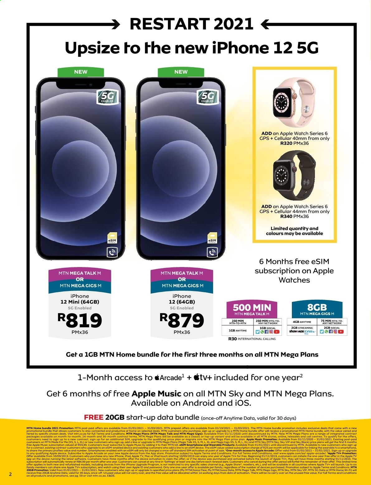MTN catalogue  - 01.01.2021 - 01.31.2021. Page 2.