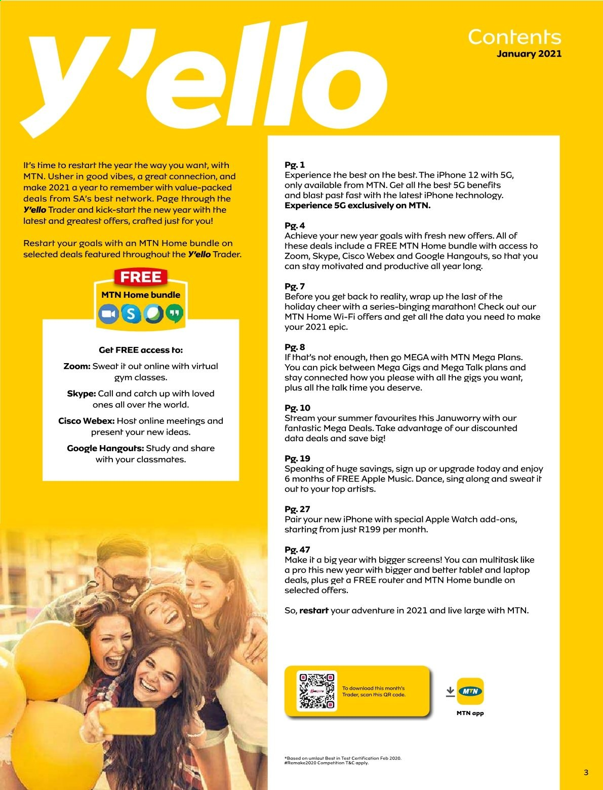 MTN catalogue  - 01.01.2021 - 01.31.2021. Page 3.