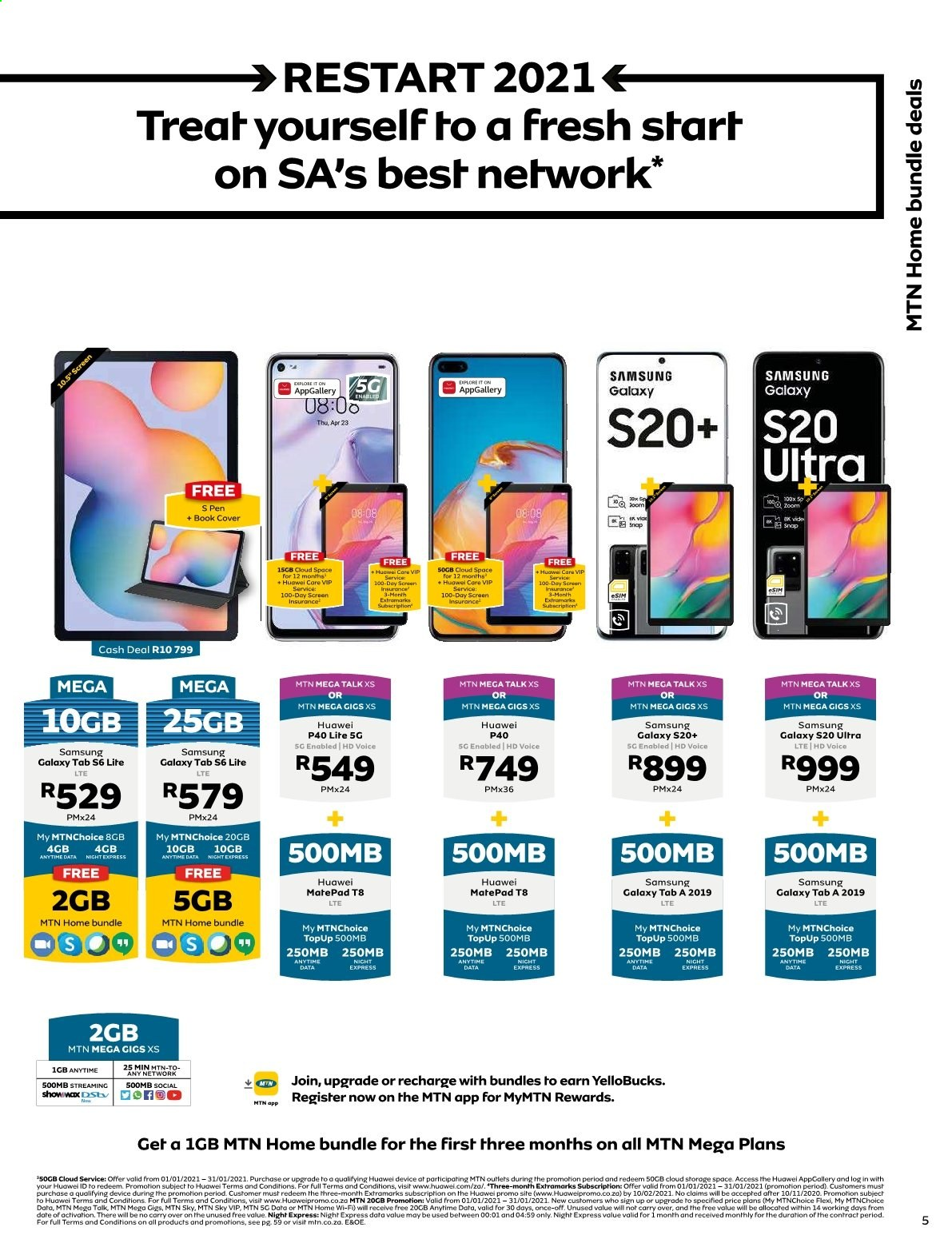 MTN catalogue  - 01.01.2021 - 01.31.2021. Page 5.
