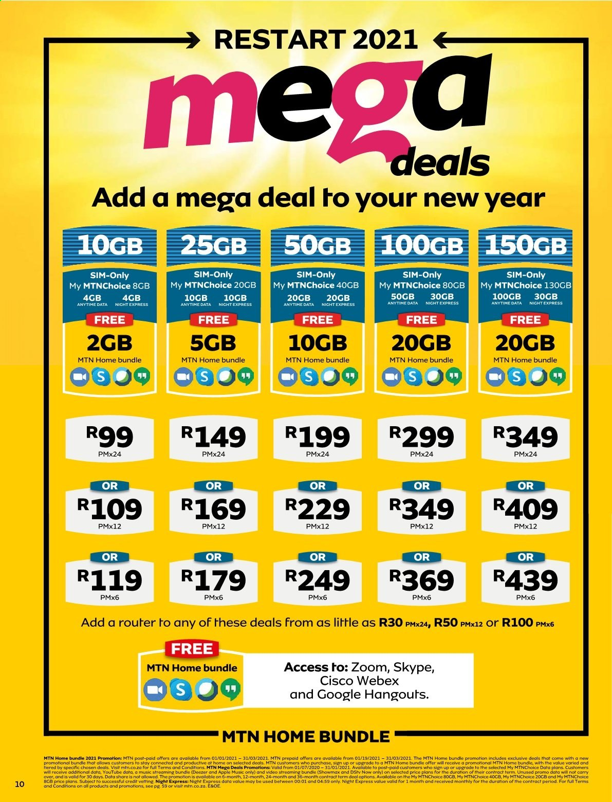 MTN catalogue  - 01.01.2021 - 01.31.2021. Page 10.