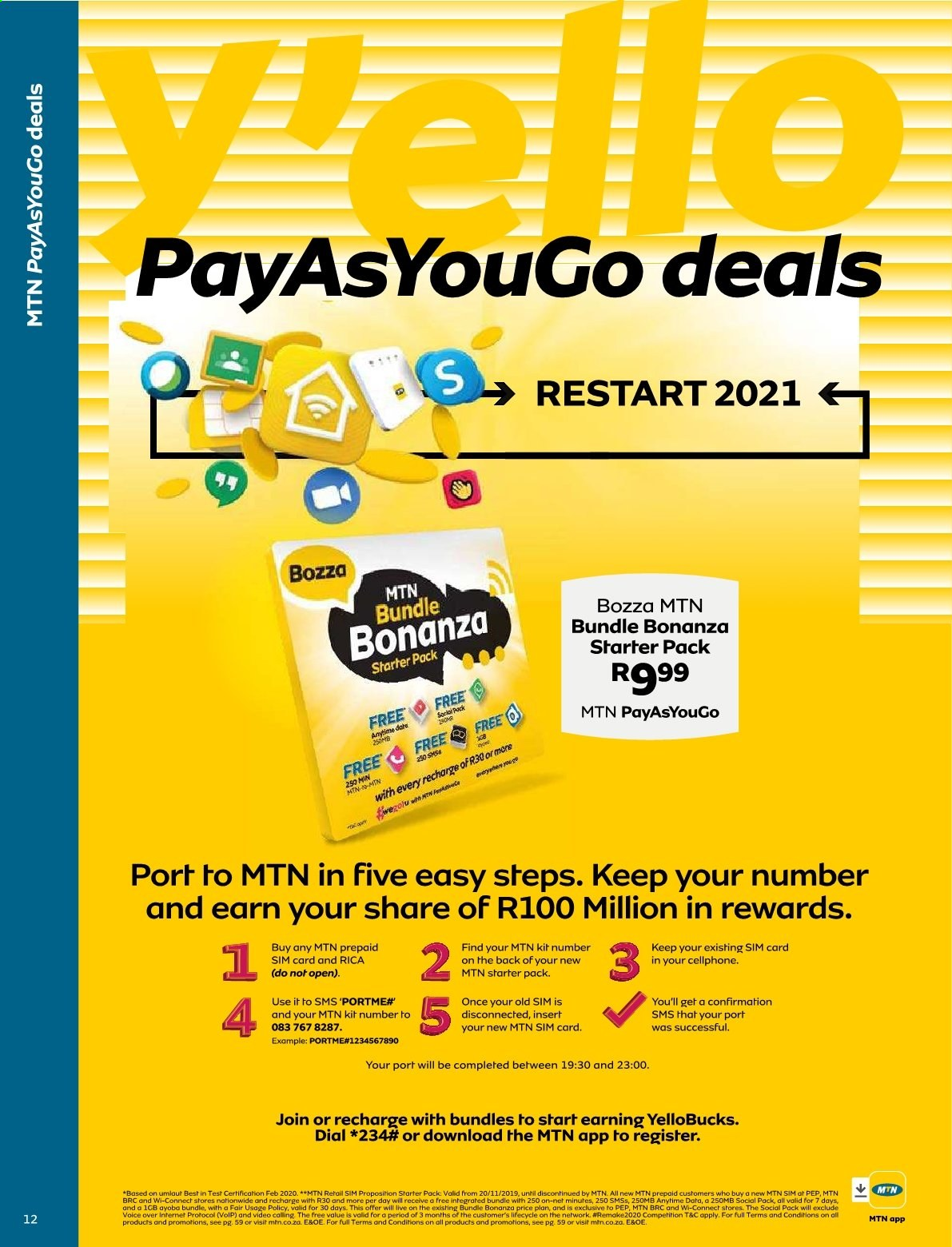 MTN catalogue  - 01.01.2021 - 01.31.2021. Page 12.