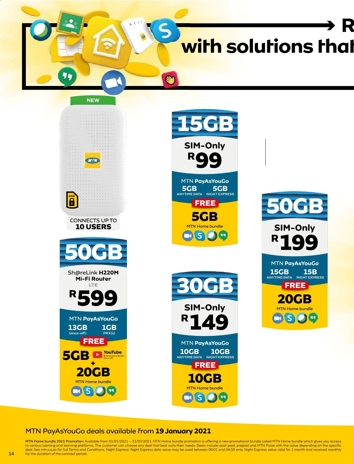 MTN catalogue  - 01.01.2021 - 01.31.2021. Page 14.