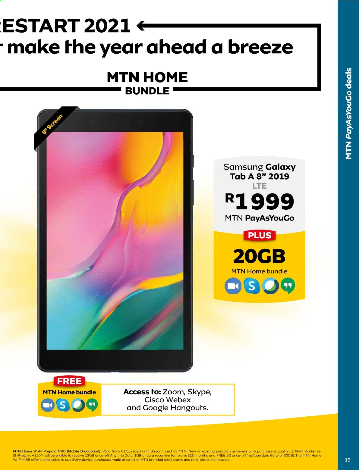 MTN catalogue  - 01.01.2021 - 01.31.2021. Page 15.