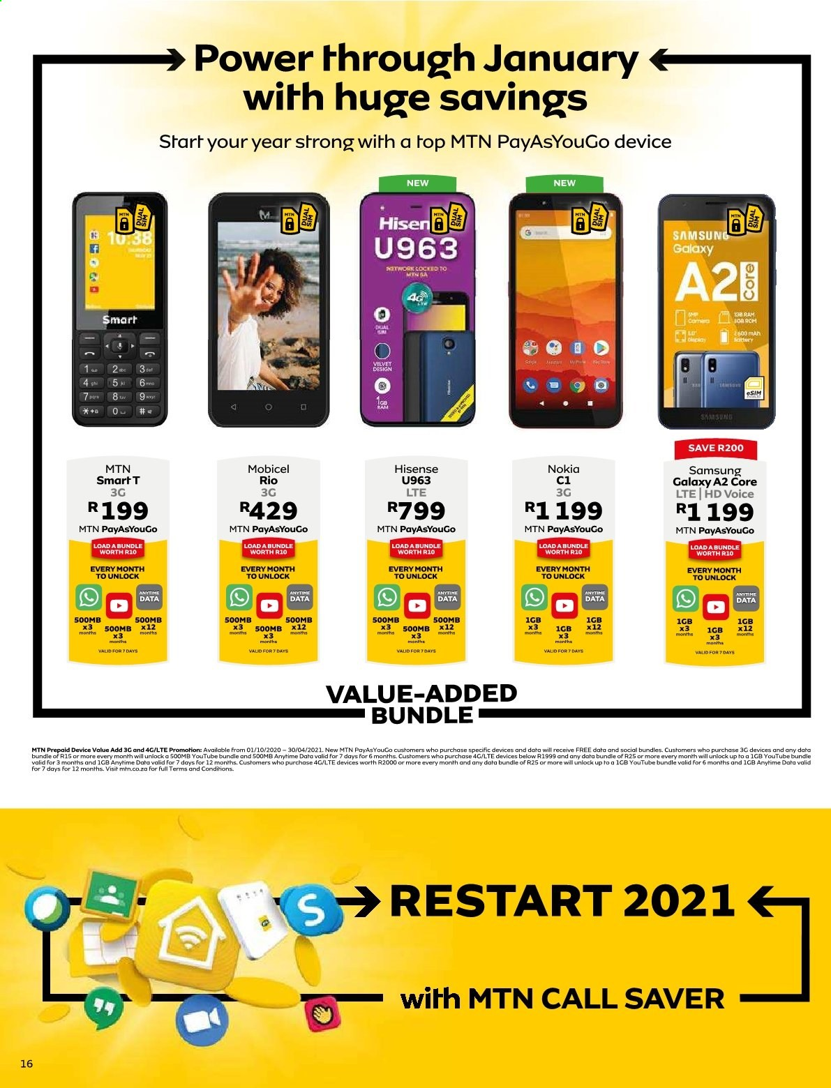 MTN catalogue  - 01.01.2021 - 01.31.2021. Page 16.