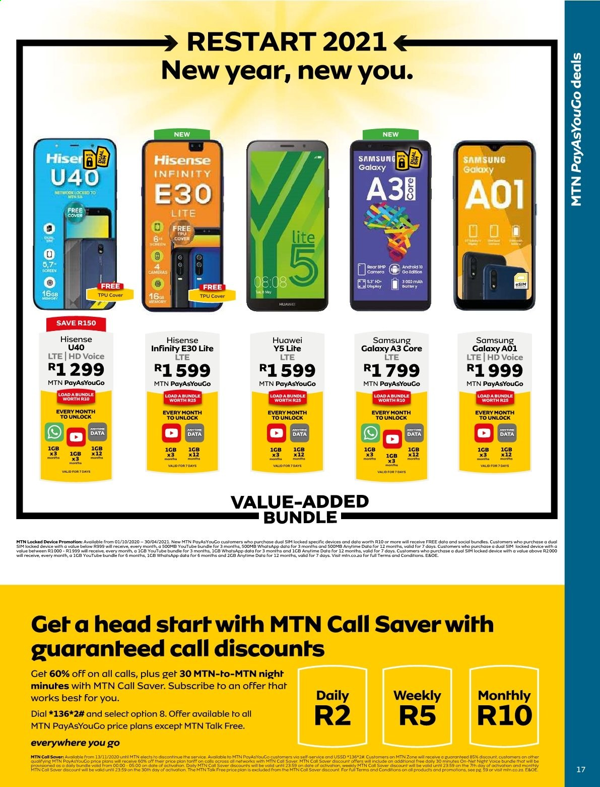 MTN catalogue  - 01.01.2021 - 01.31.2021. Page 17.