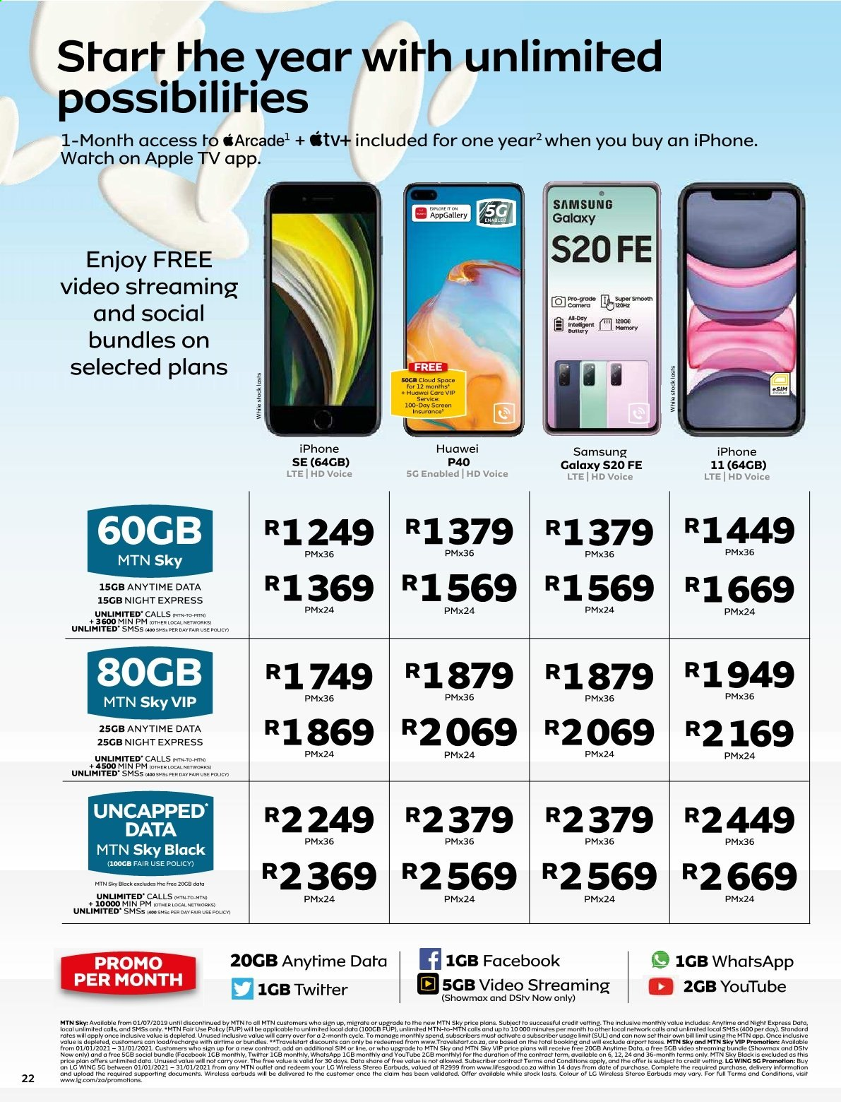 MTN catalogue  - 01.01.2021 - 01.31.2021. Page 22.