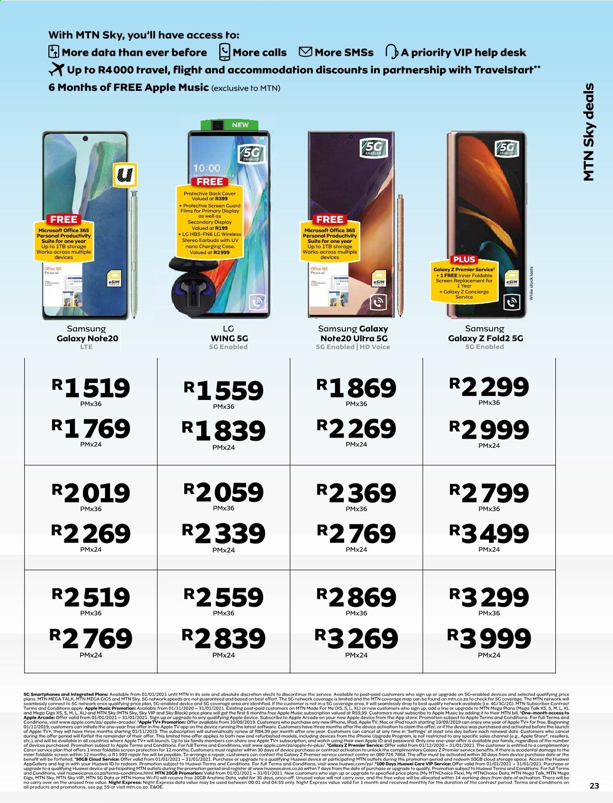 MTN catalogue  - 01.01.2021 - 01.31.2021. Page 23.