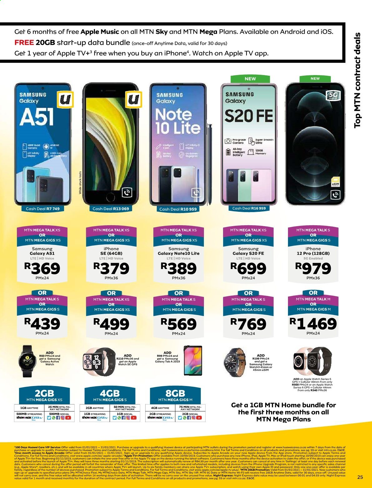 MTN catalogue  - 01.01.2021 - 01.31.2021. Page 25.