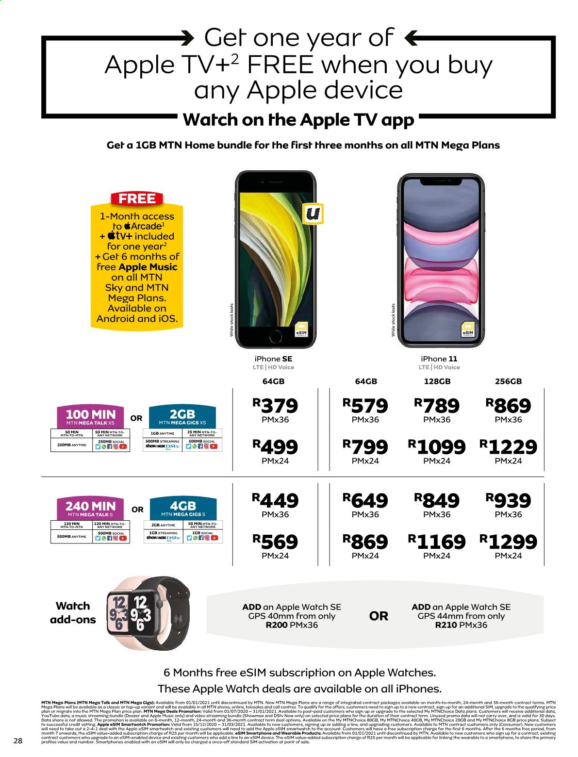 MTN catalogue  - 01.01.2021 - 01.31.2021. Page 28.