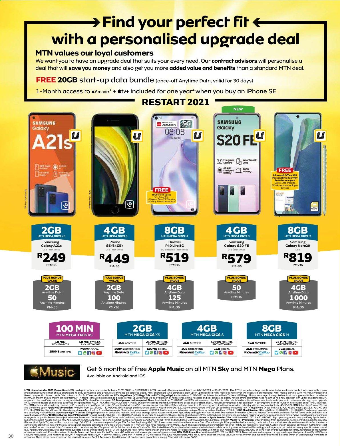 MTN catalogue  - 01.01.2021 - 01.31.2021. Page 30.