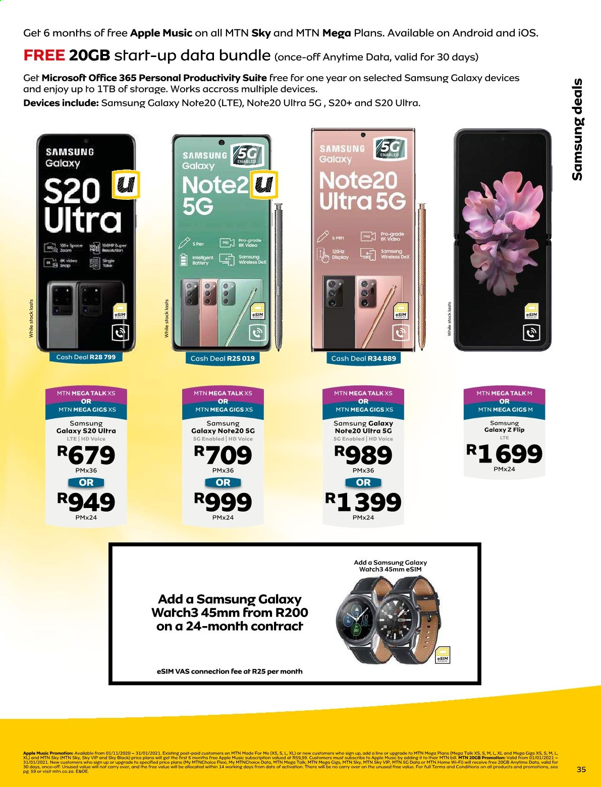 MTN catalogue  - 01.01.2021 - 01.31.2021. Page 35.