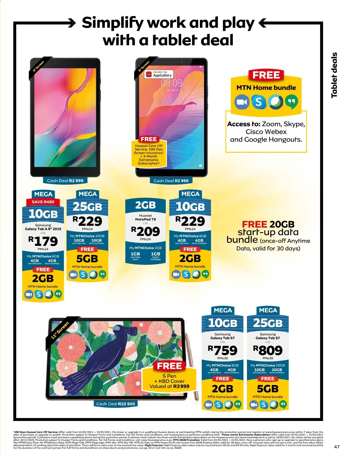 MTN catalogue  - 01.01.2021 - 01.31.2021. Page 48.