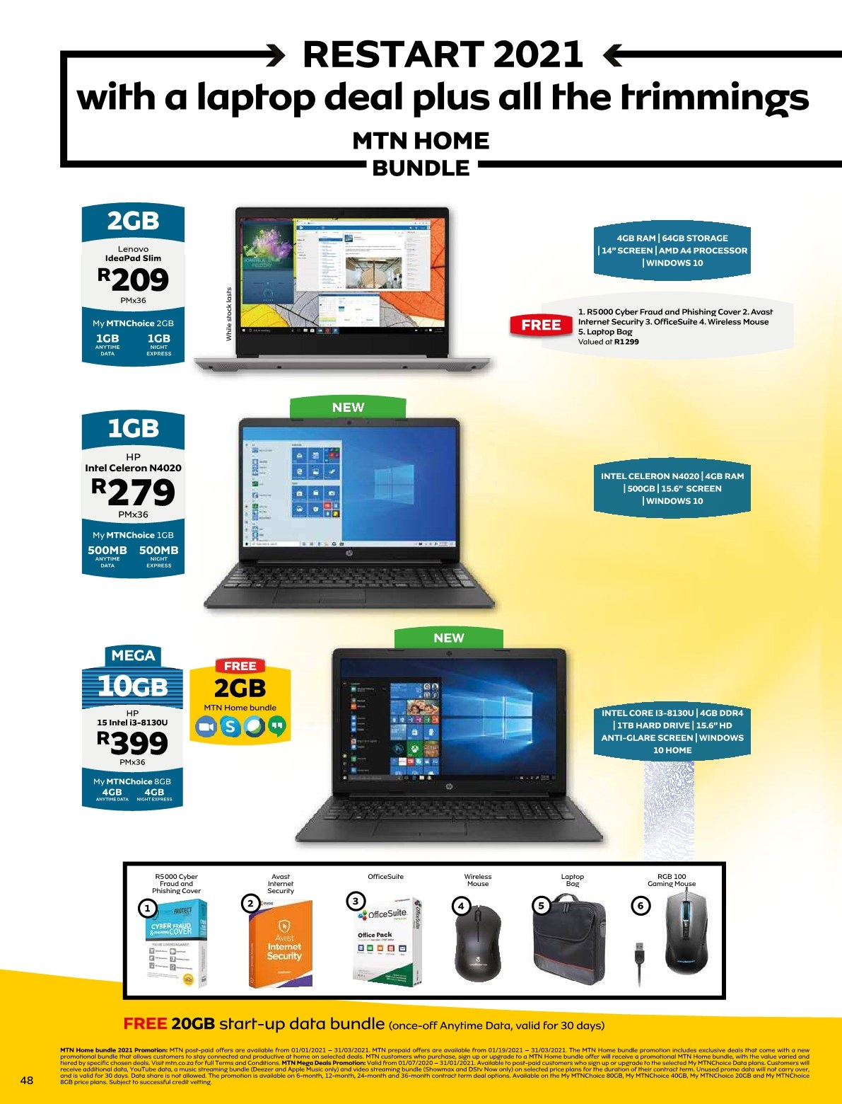 MTN catalogue  - 01.01.2021 - 01.31.2021. Page 47.