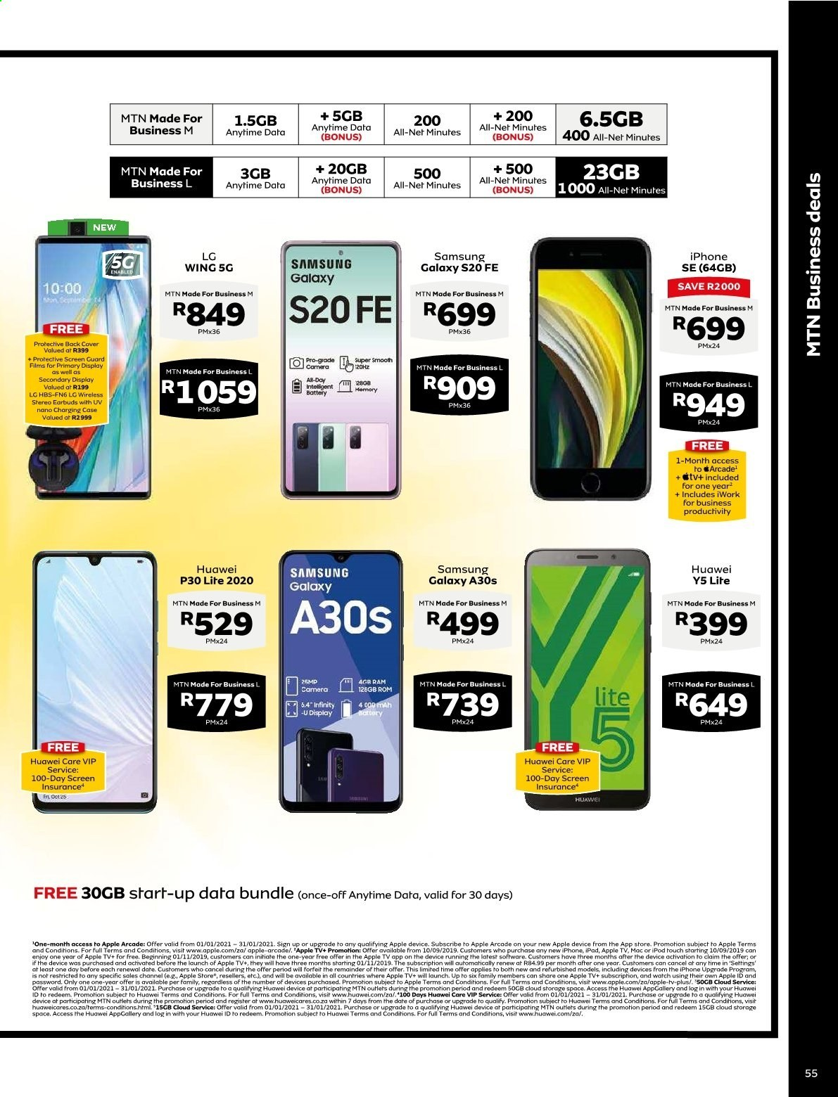 MTN catalogue  - 01.01.2021 - 01.31.2021. Page 55.