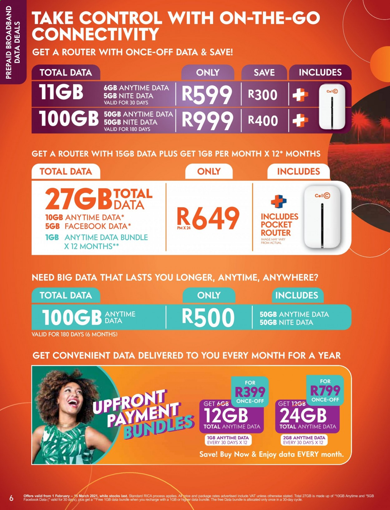 Cell C catalogue  - 02.01.2021 - 03.15.2021. Page 6.