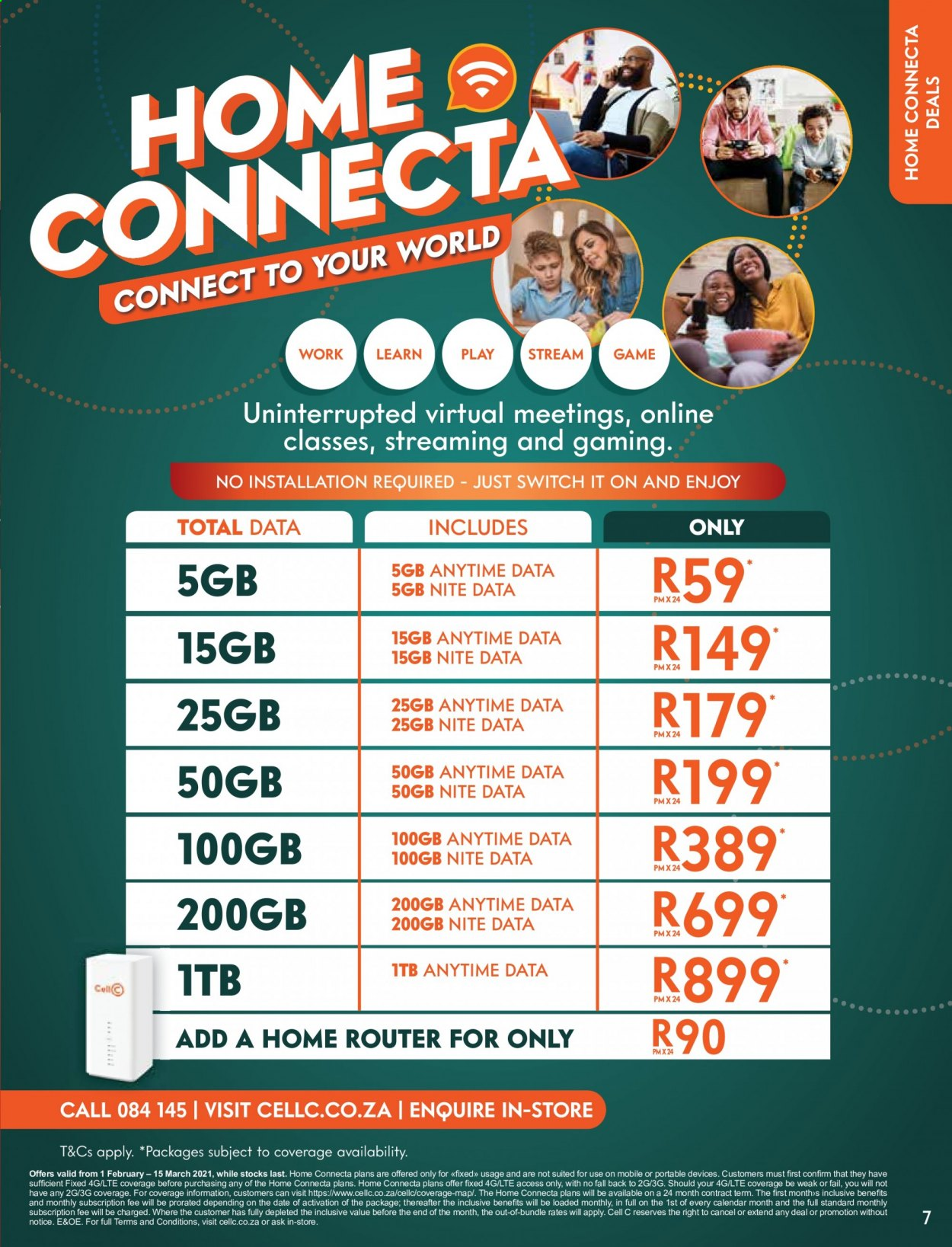 Cell C catalogue  - 02.01.2021 - 03.15.2021. Page 7.