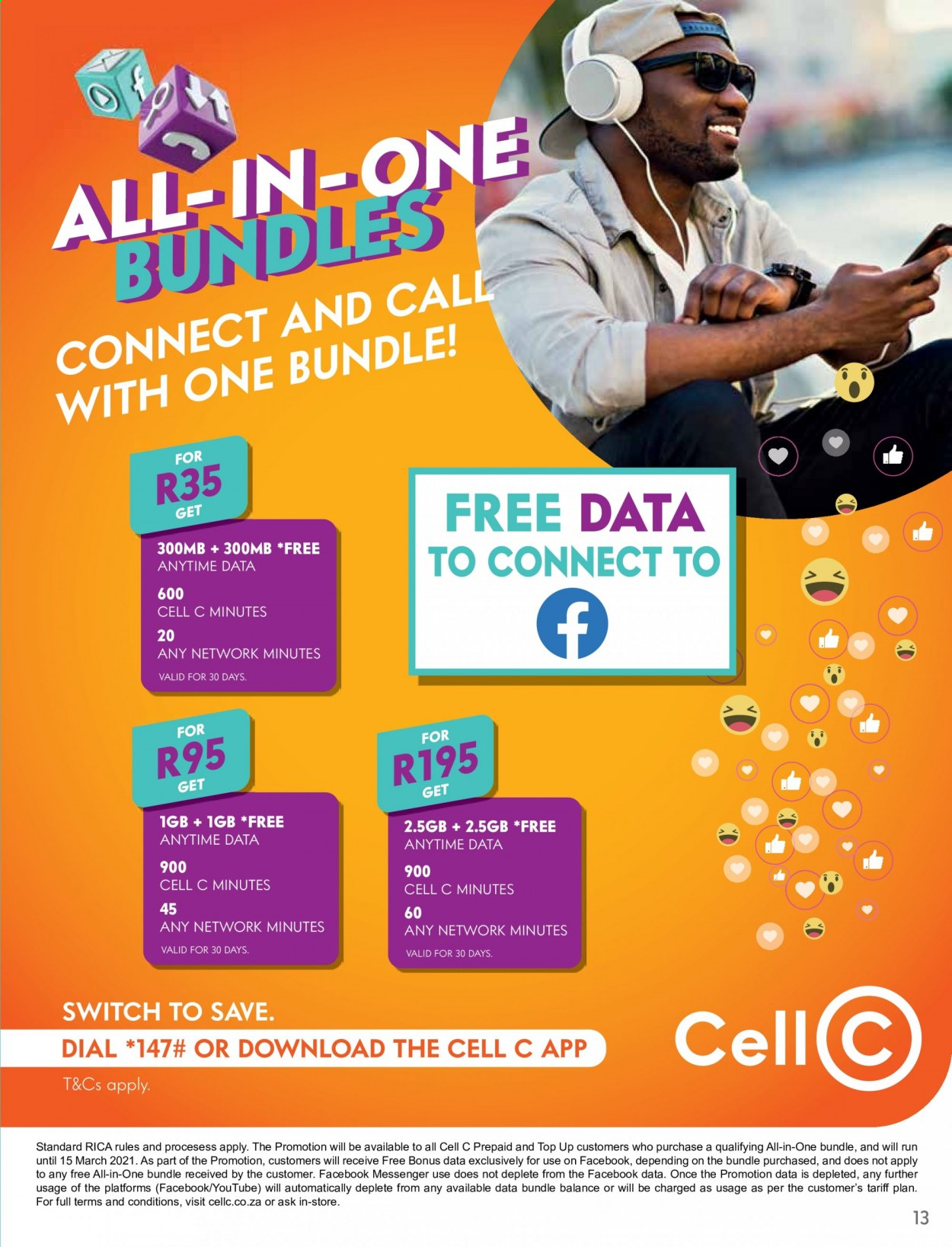 Cell C catalogue  - 02.01.2021 - 03.15.2021. Page 13.