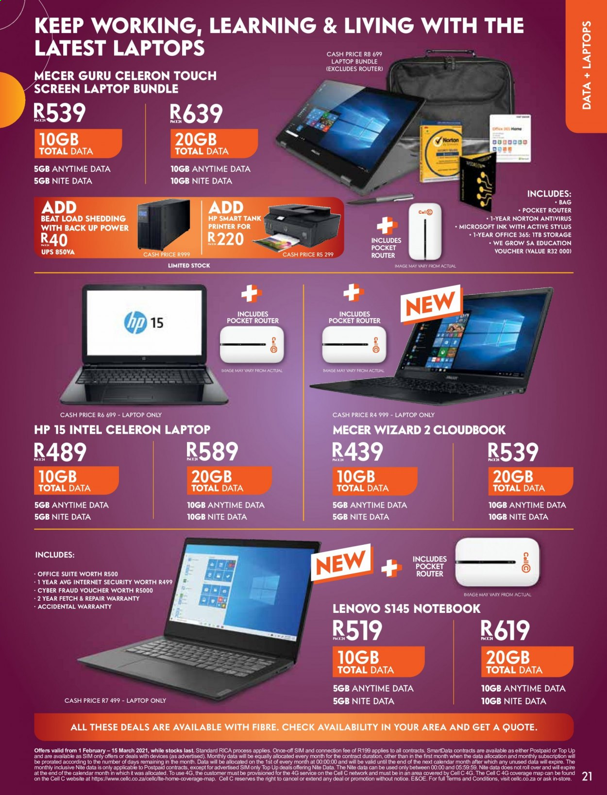 Cell C catalogue  - 02.01.2021 - 03.15.2021. Page 21.