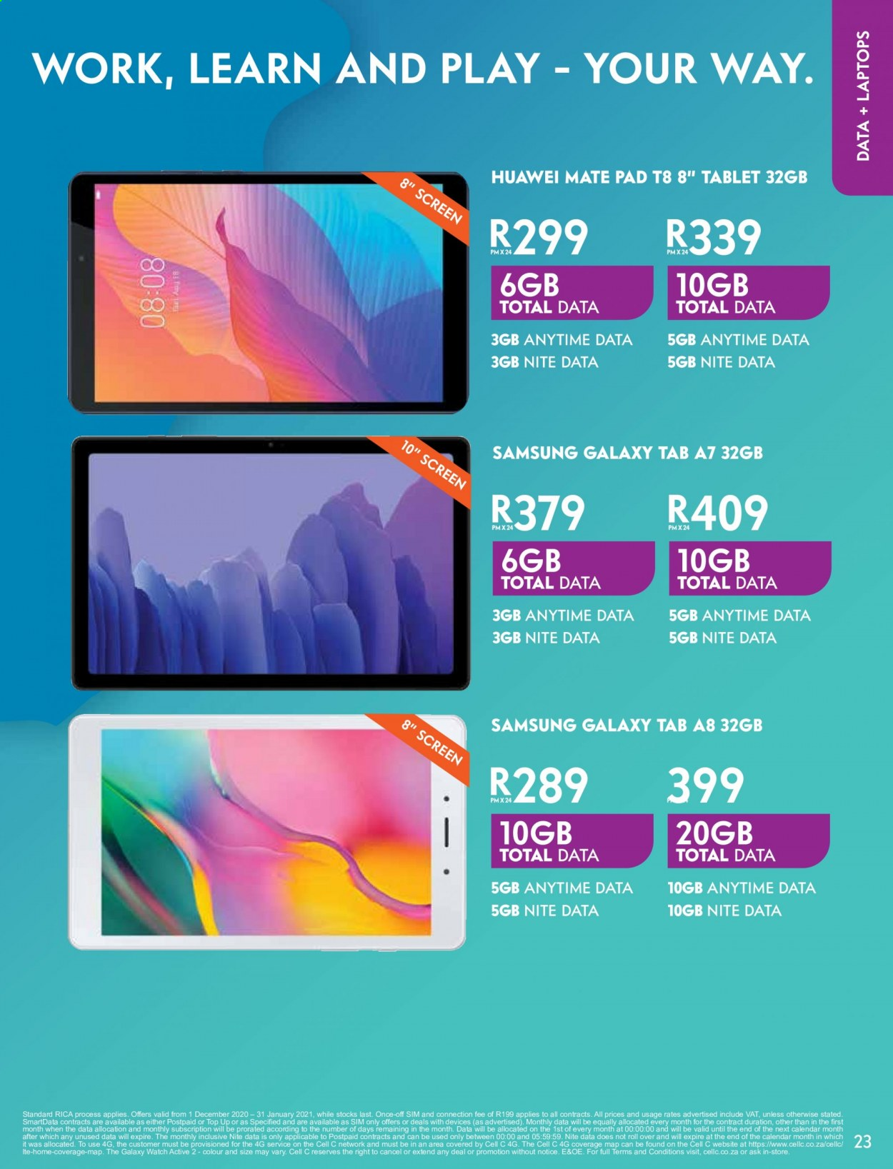 Cell C catalogue  - 02.01.2021 - 03.15.2021. Page 23.