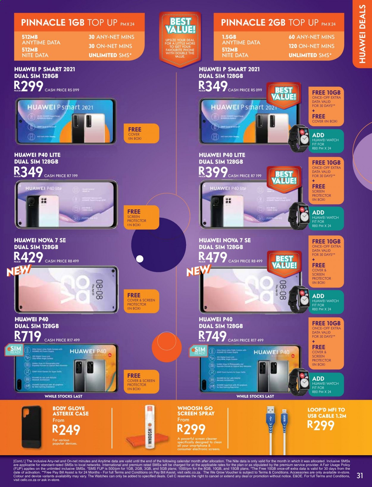 Cell C catalogue  - 02.01.2021 - 03.15.2021. Page 31.