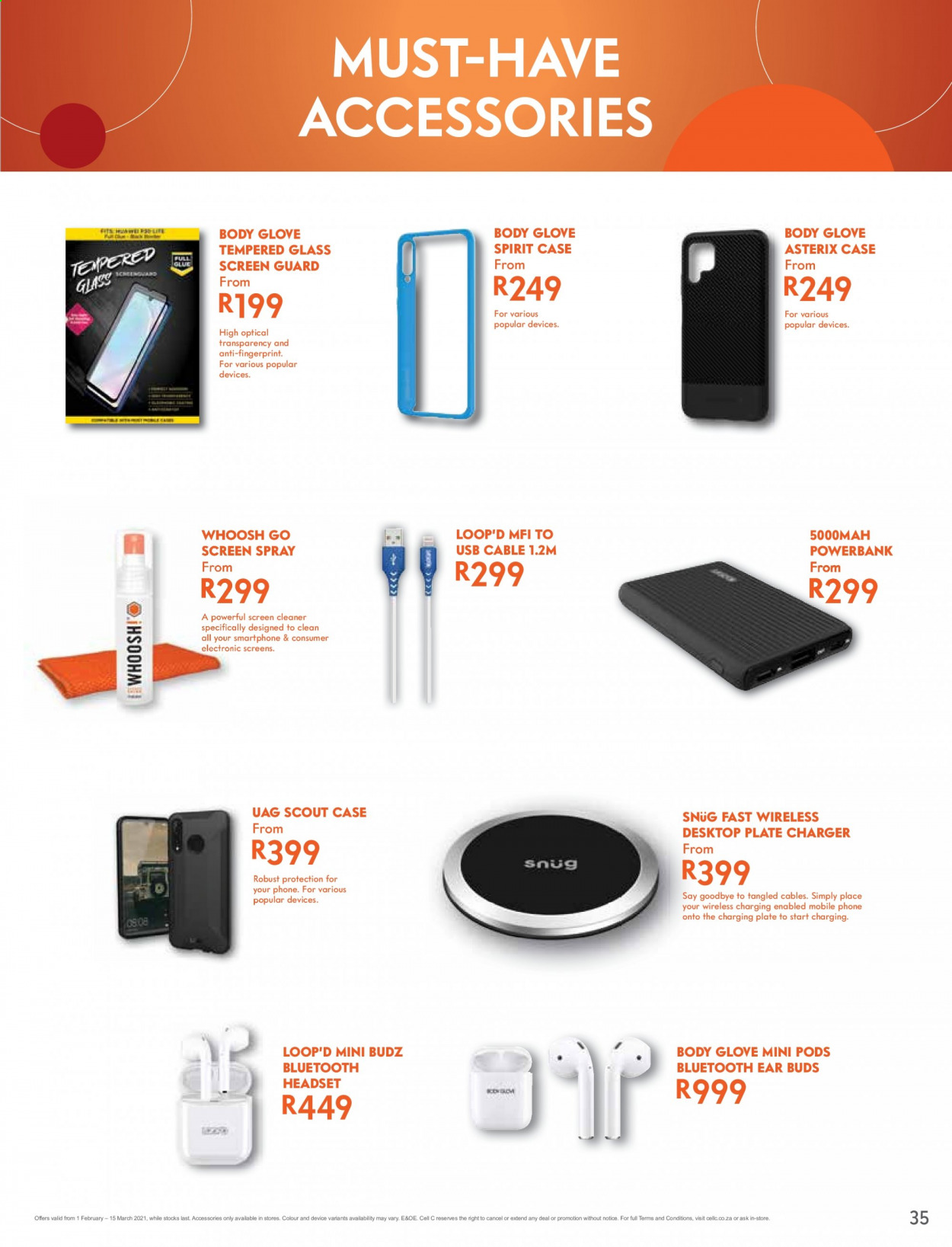 Cell C catalogue  - 02.01.2021 - 03.15.2021. Page 35.