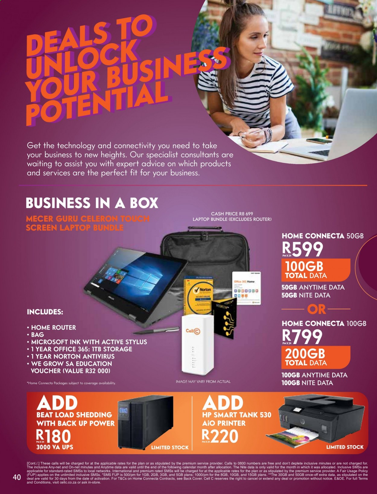 Cell C catalogue  - 02.01.2021 - 03.15.2021. Page 40.