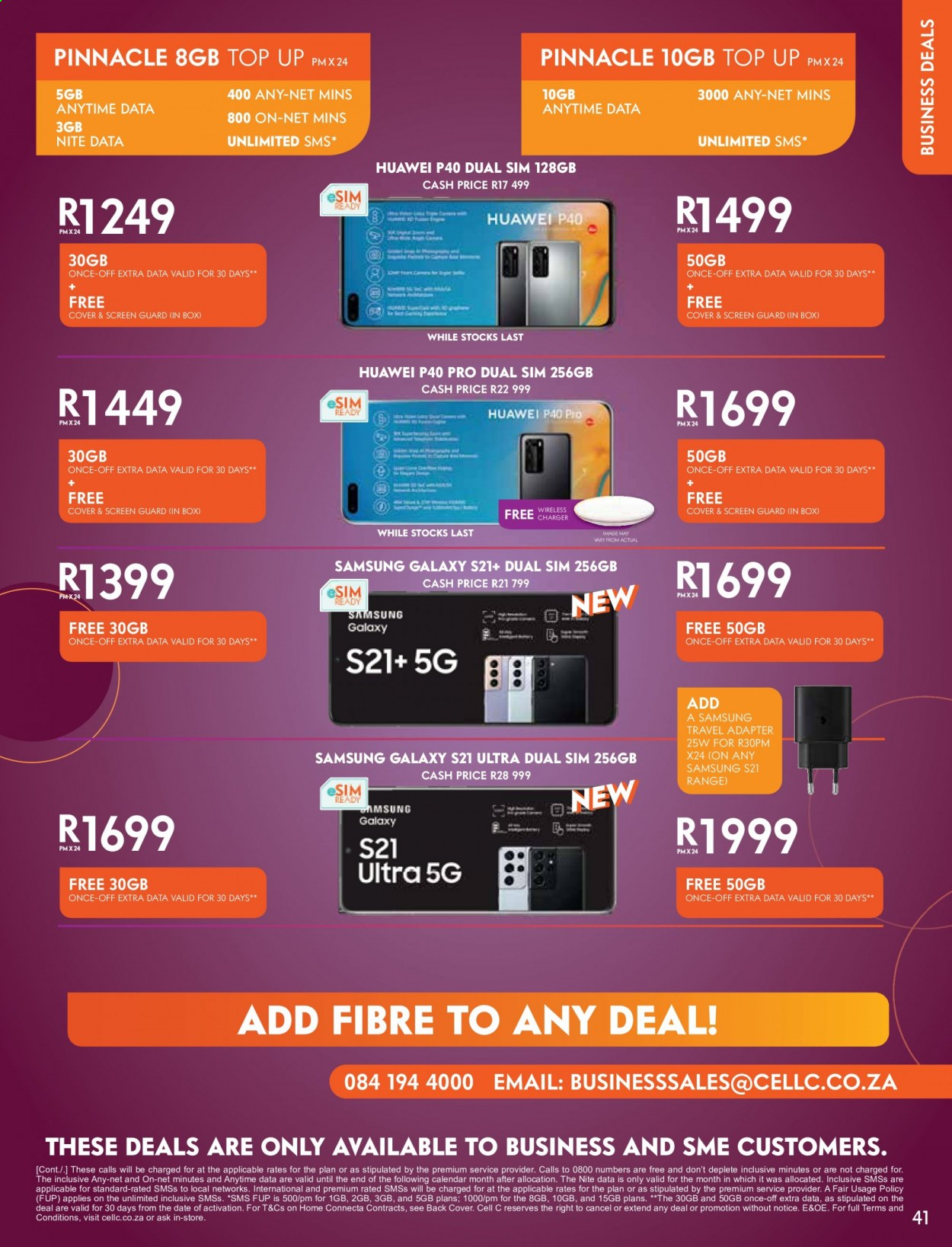 Cell C catalogue  - 02.01.2021 - 03.15.2021. Page 41.