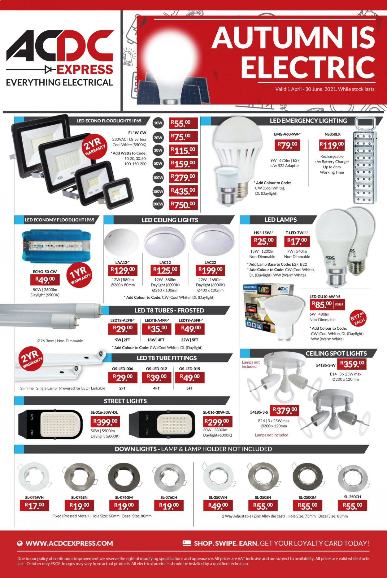 ACDC Express catalogue  - 04.01.2021 - 06.30.2021. Page 1.