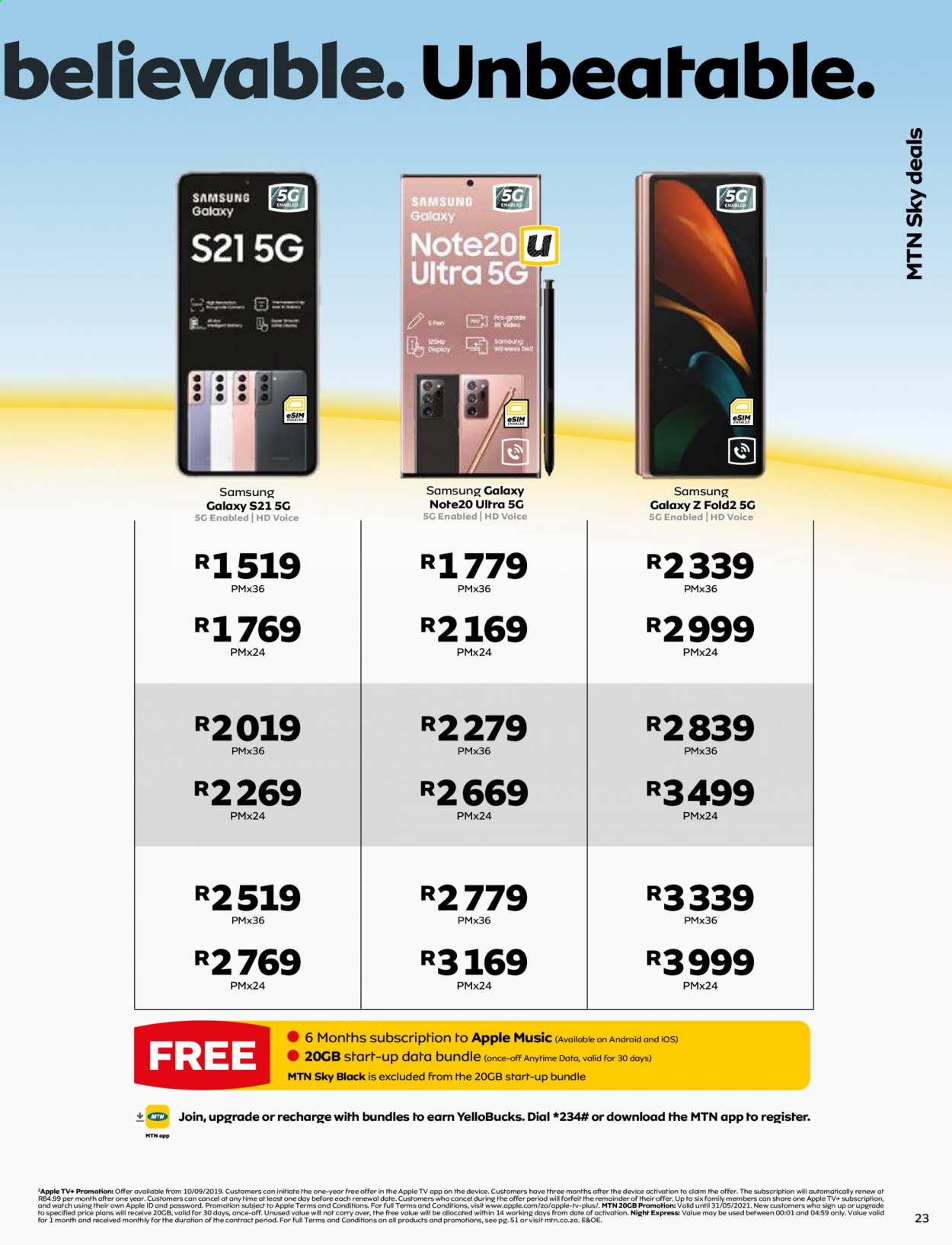 MTN catalogue  - 05.01.2021 - 05.31.2021. Page 23.