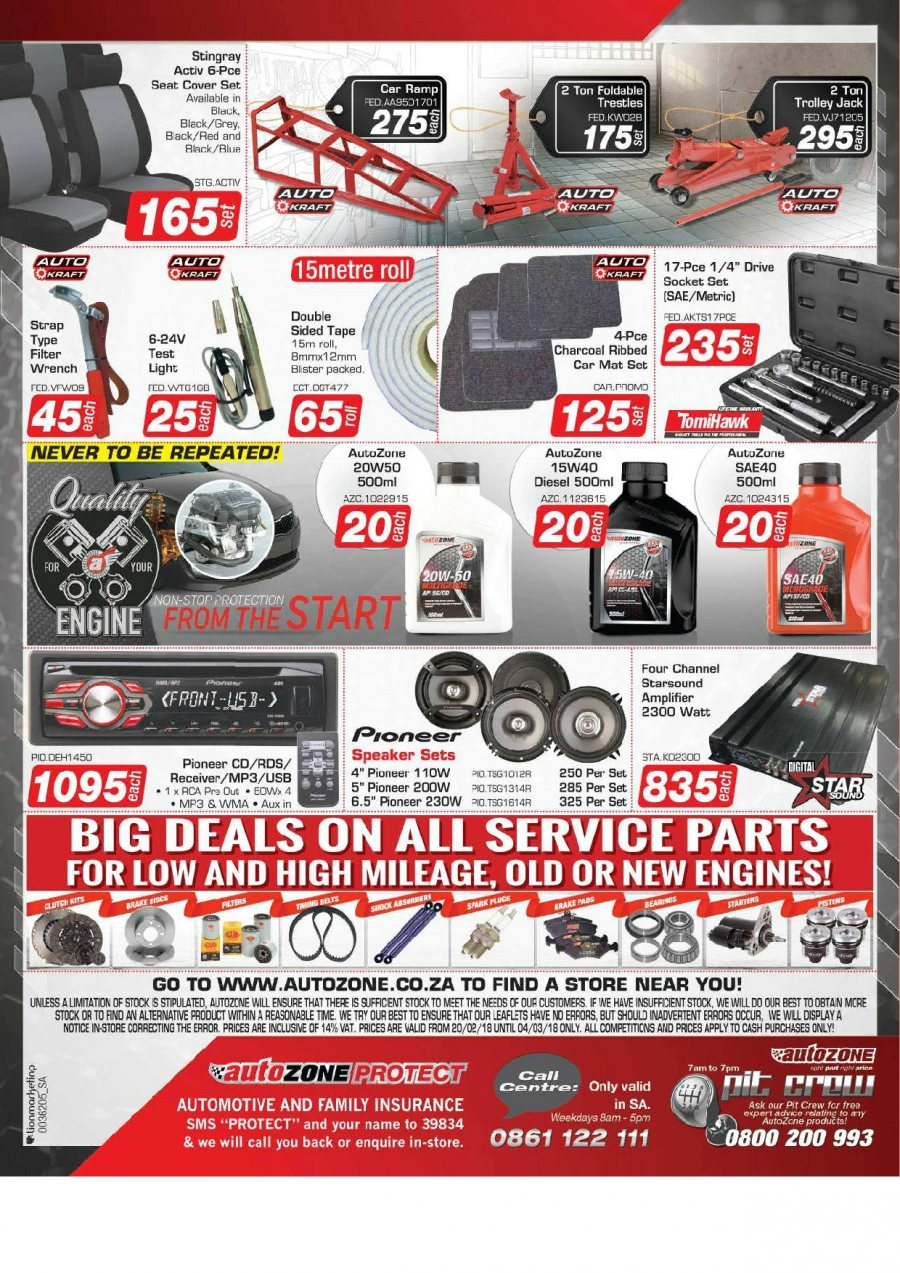 AutoZone special  - 02.20.2018 - 03.04.2018. Page 2.