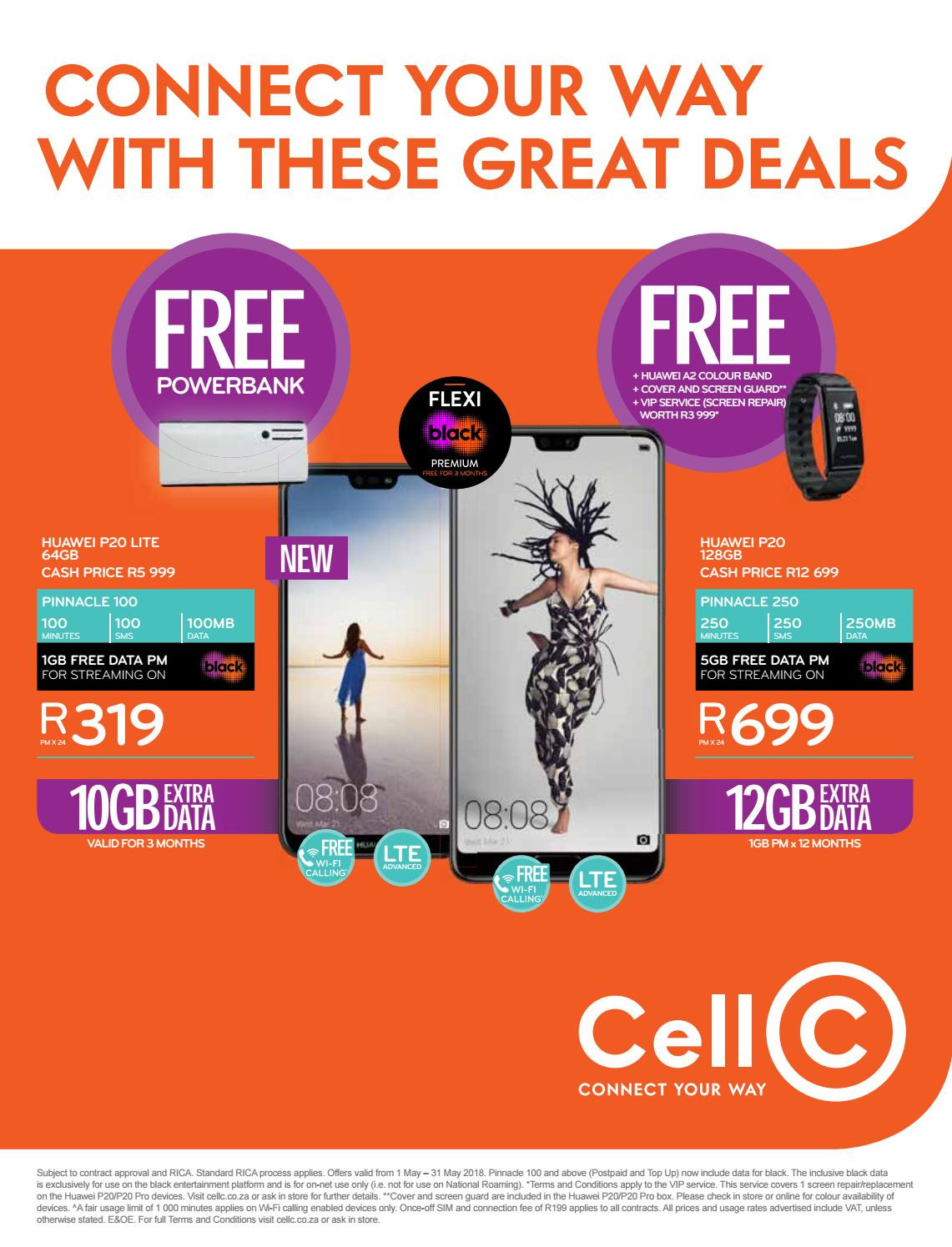 Current catalogue Cell C