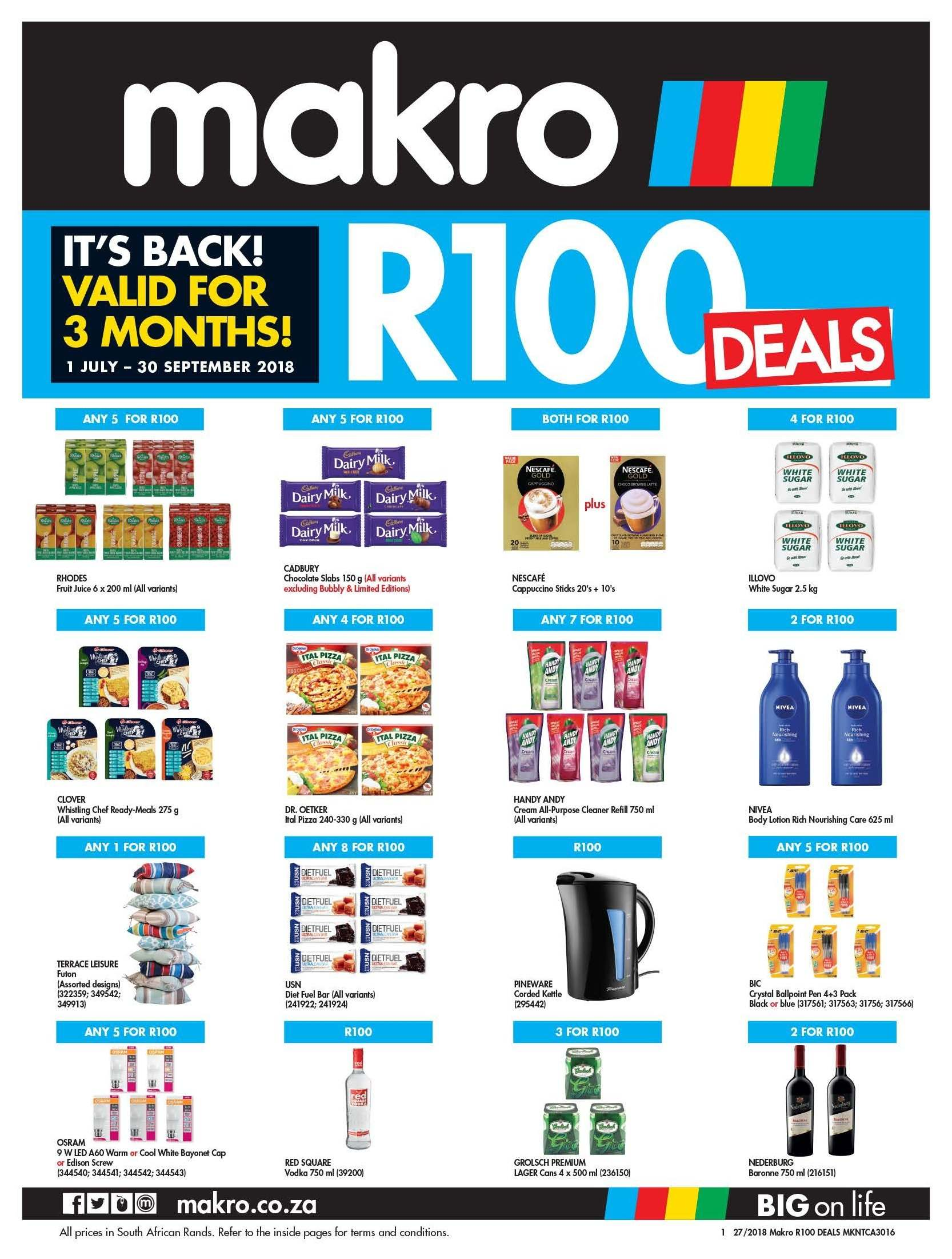 makro 100 deals rand days