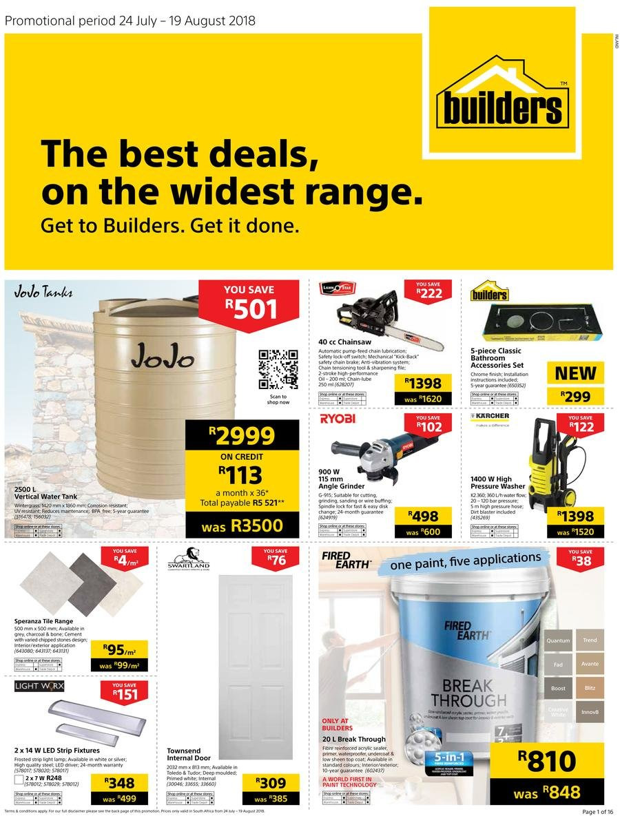 Current catalogue Builders Warehouse