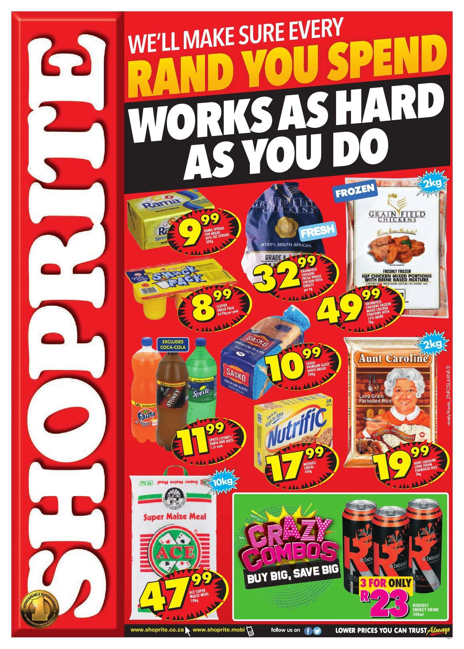Shoprite catalogue  - 10.08.2018 - 10.14.2018. Page 1.