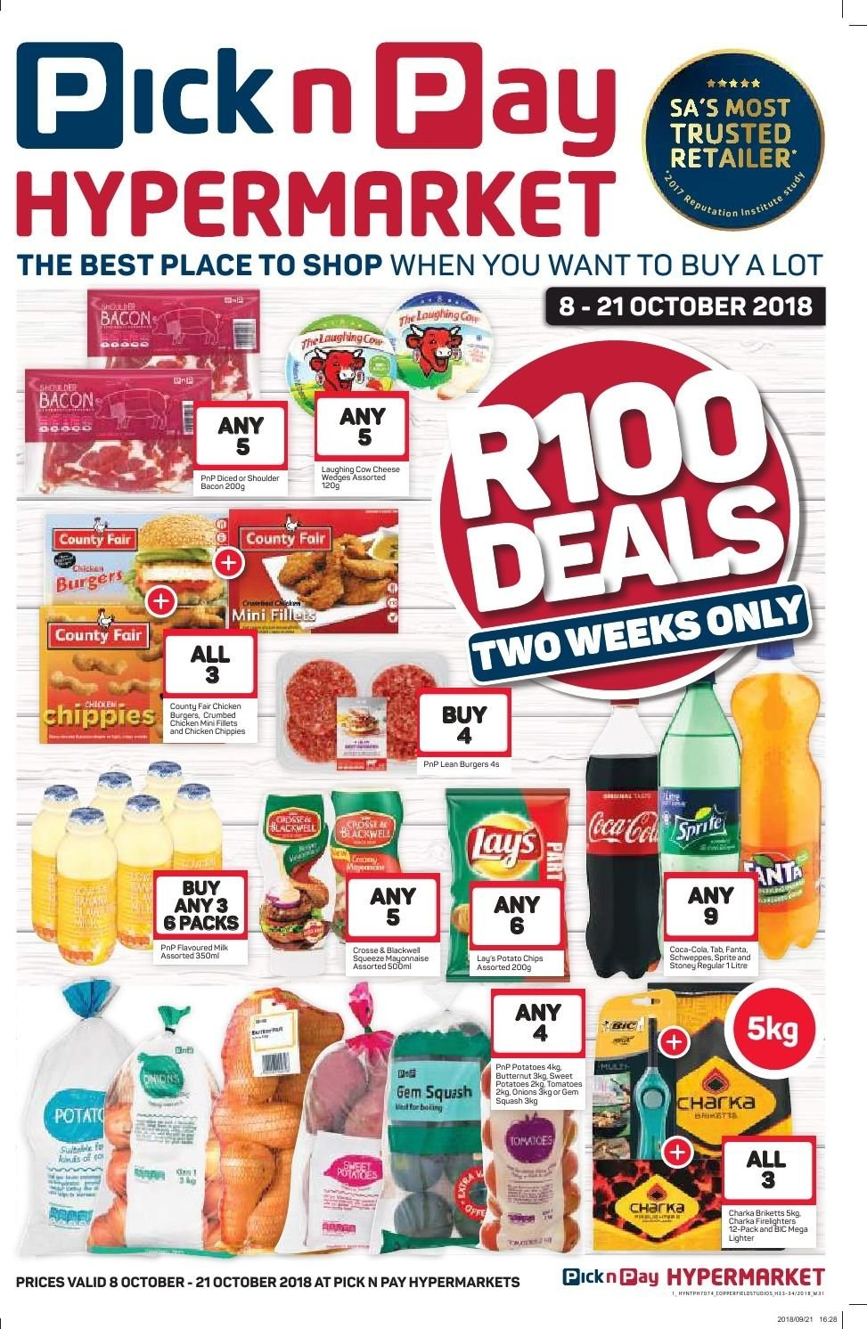 Pick n Pay special  - 10.08.2018 - 10.21.2018. Page 1.