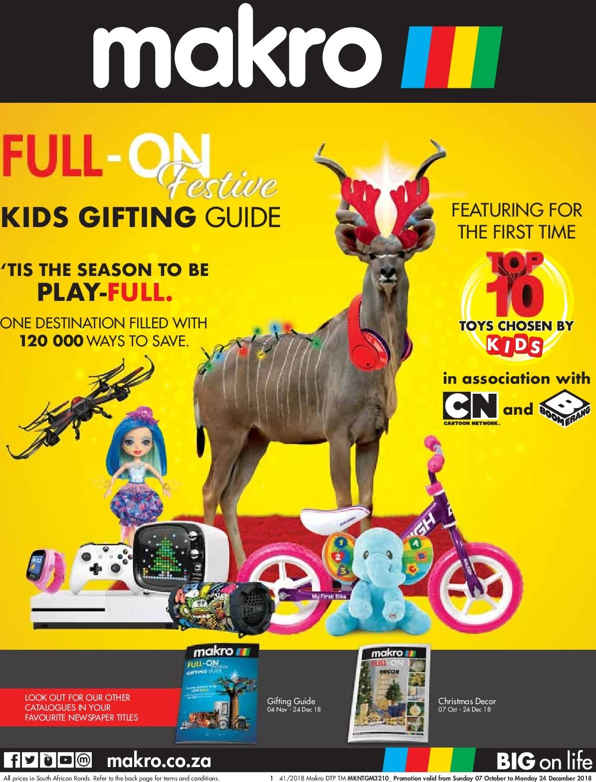 Makro special - 10.07.2018 - 12.24.2018 - Sales products - tie, toys. Page 1.