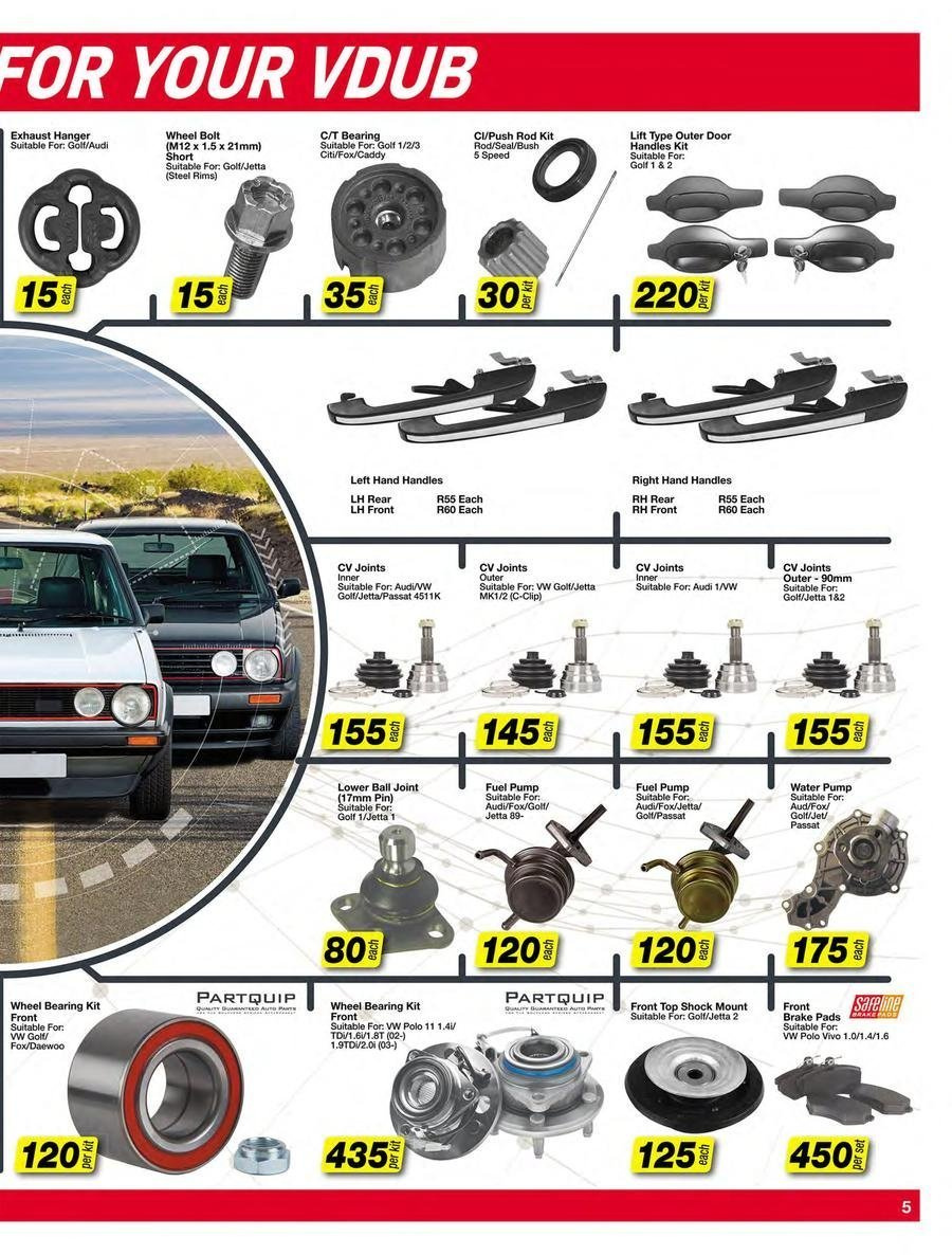 AutoZone special - 11.20.2018 - 12.31.2018 - Sales products - door, fuel, top, handles, pin, pads, water. Page 5.