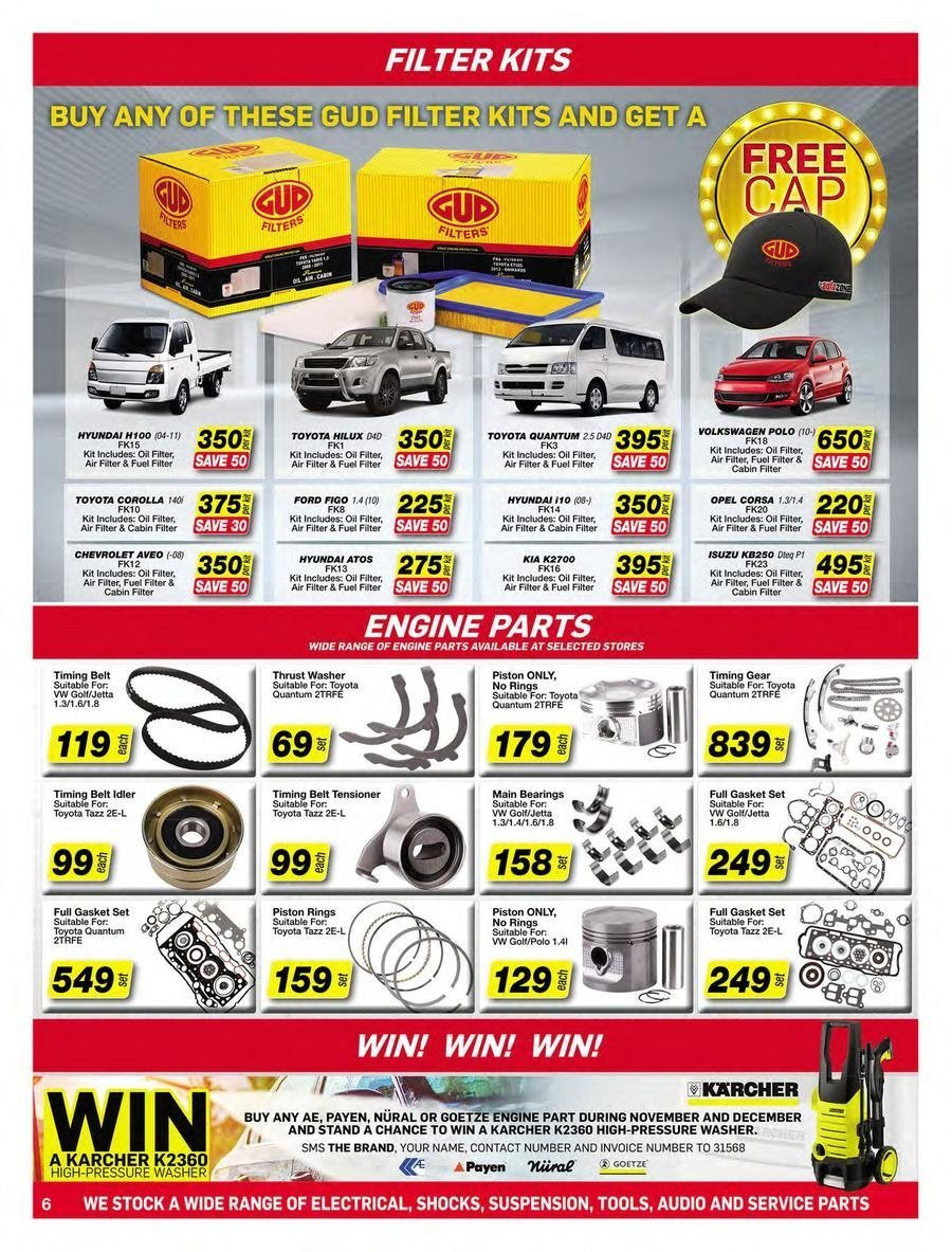 AutoZone special - 11.20.2018 - 12.31.2018 - Sales products - air filter, belt, cap, ford, fuel, ring, stand, washer. Page 6.