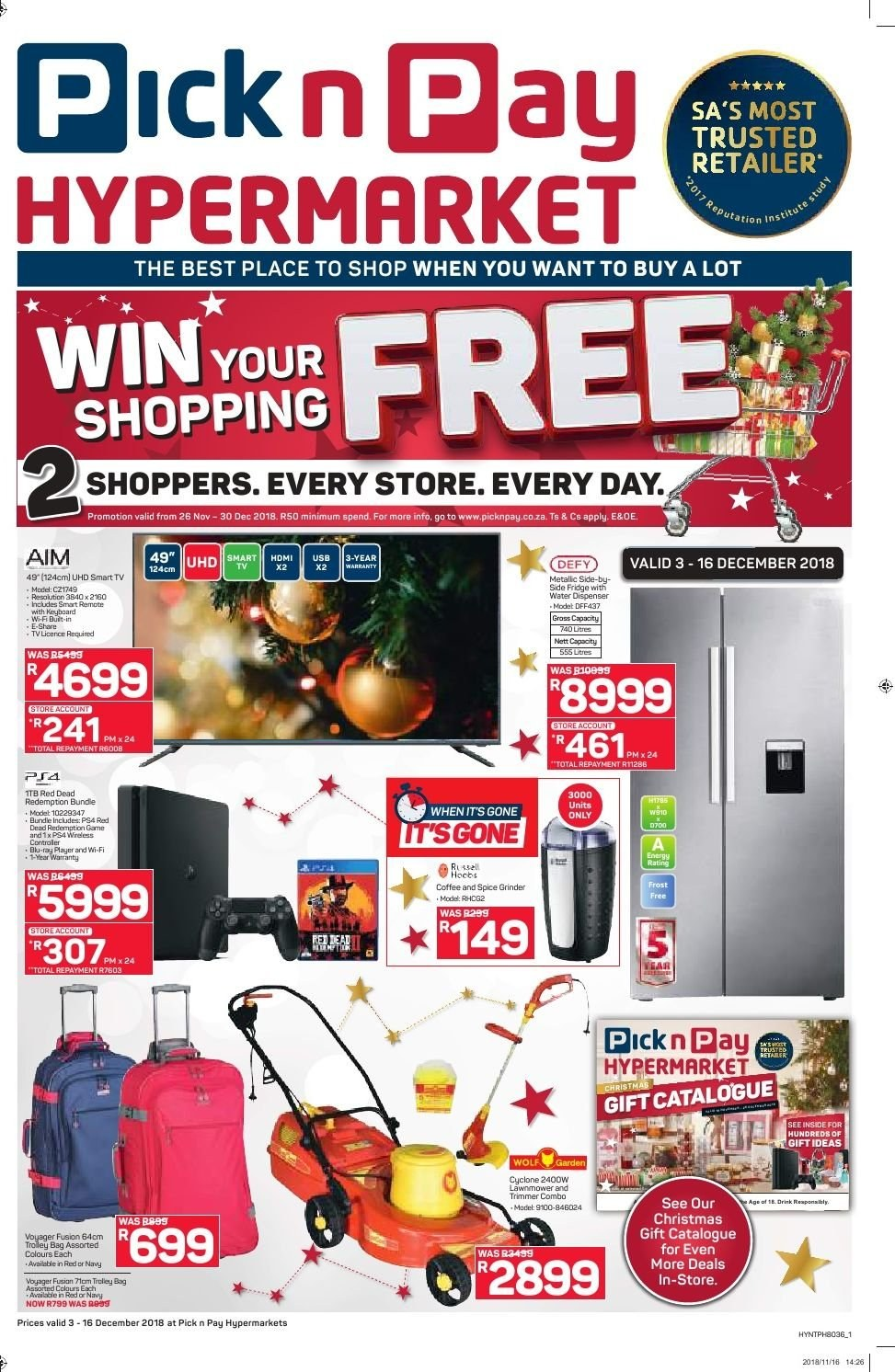Pick n Pay catalogue  - 12.03.2018 - 12.16.2018. Page 1.