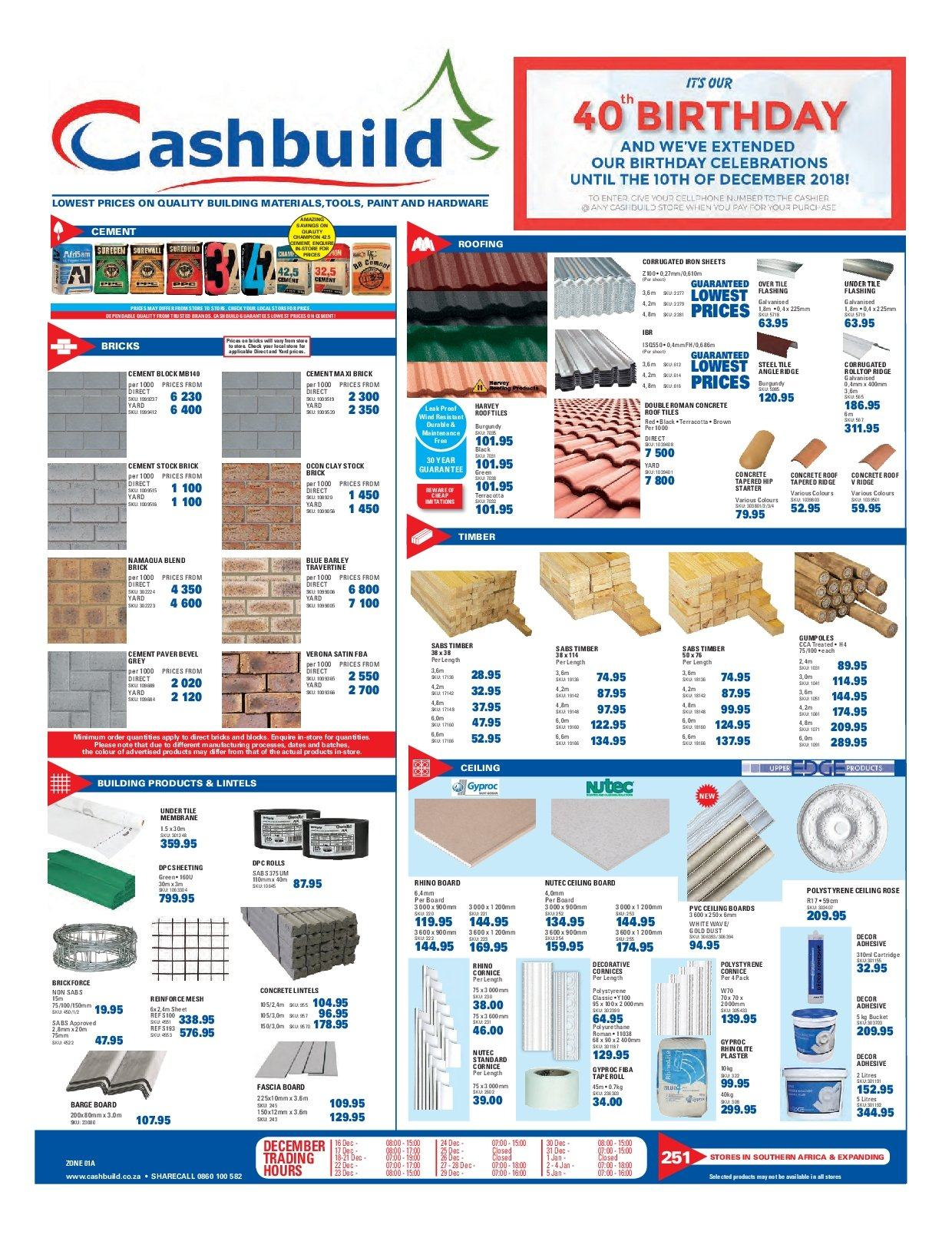 Cashbuild Catalogue 12 03 2018 01 20 2019 My Catalogue