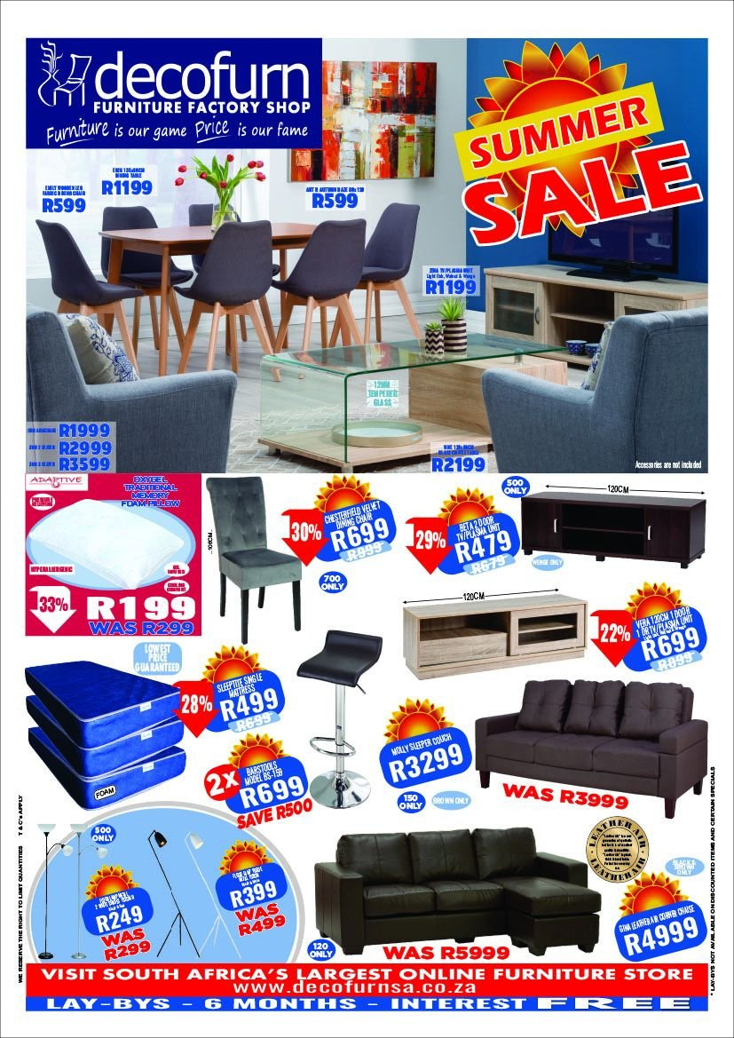 Decofurn Factory Shop special - Sales products - furniture, glass, game. Page 1.