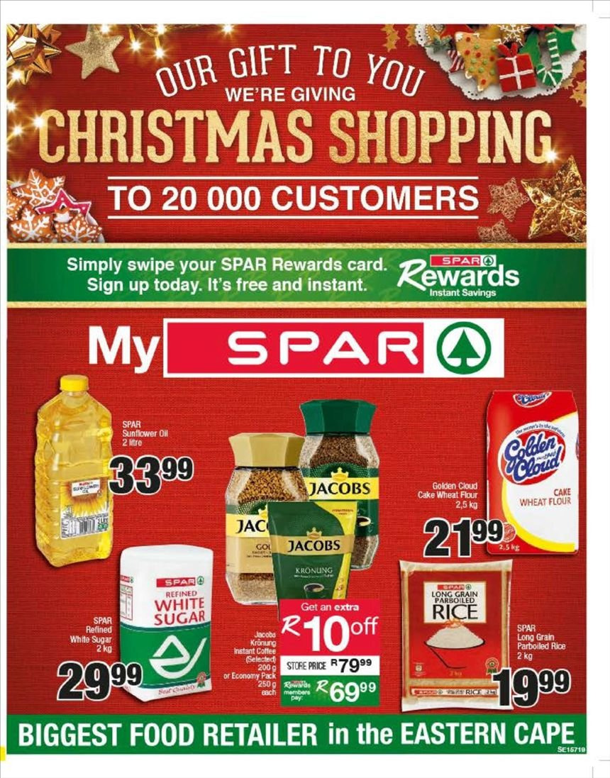 SPAR special - 12.18.2018 - 12.30.2018 - Sales products - coffee, flour, rice, sugar, wheat flour, jacobs. Page 1.